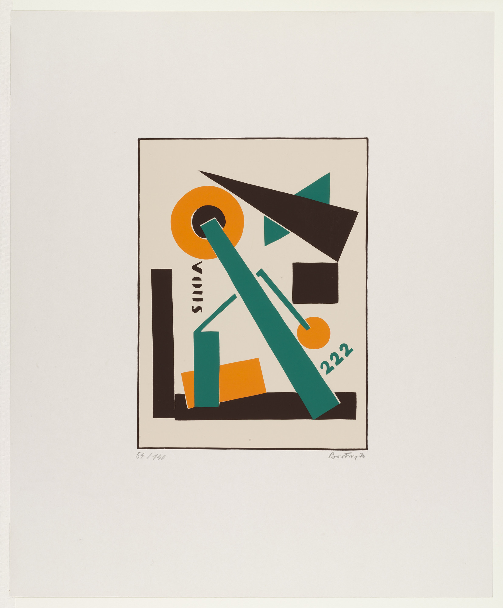 Sándor (Alexander) Bortnyik. Untitled from the series Album MA. 1921, reprinted 1970