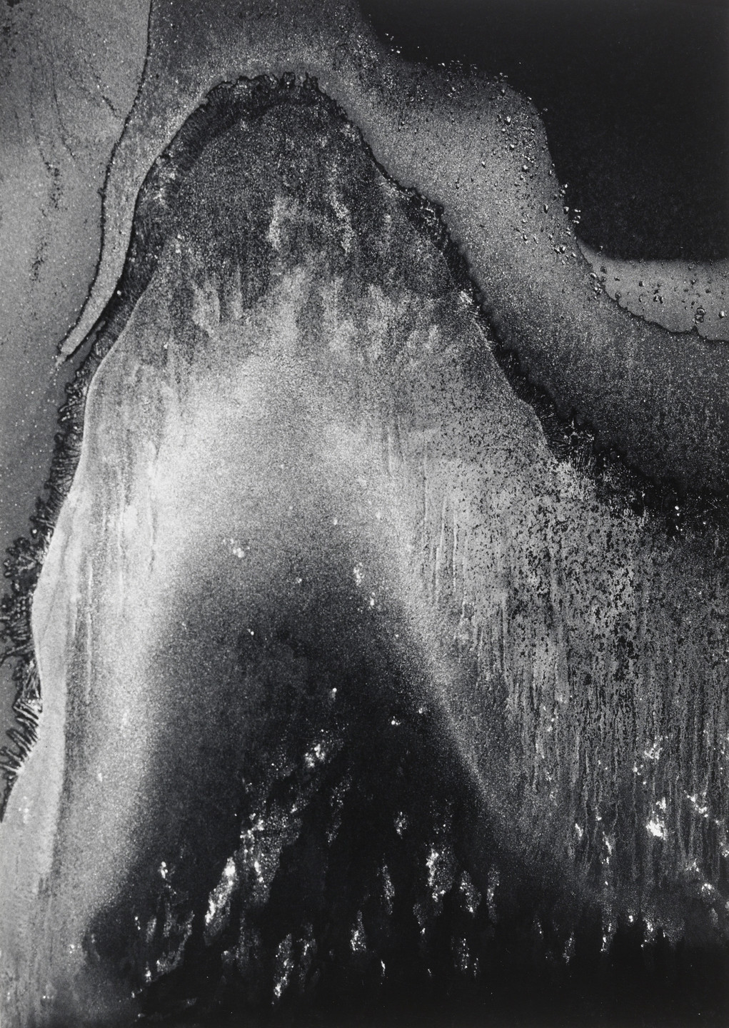 Minor White. Frost Forms: Sound of One Hand. 1959