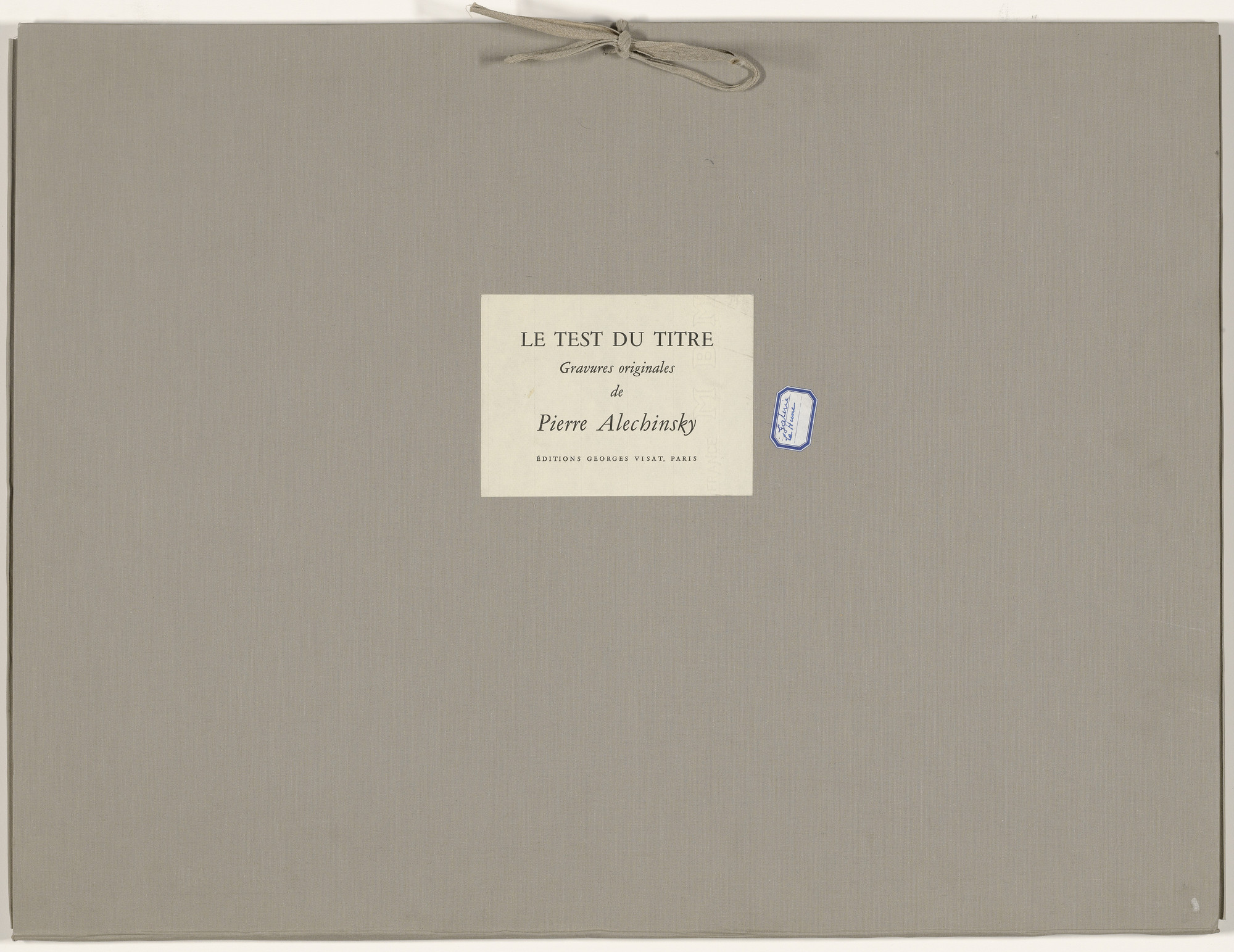 Pierre Alechinsky. The Test of the Title (Le Test du titre). 1966