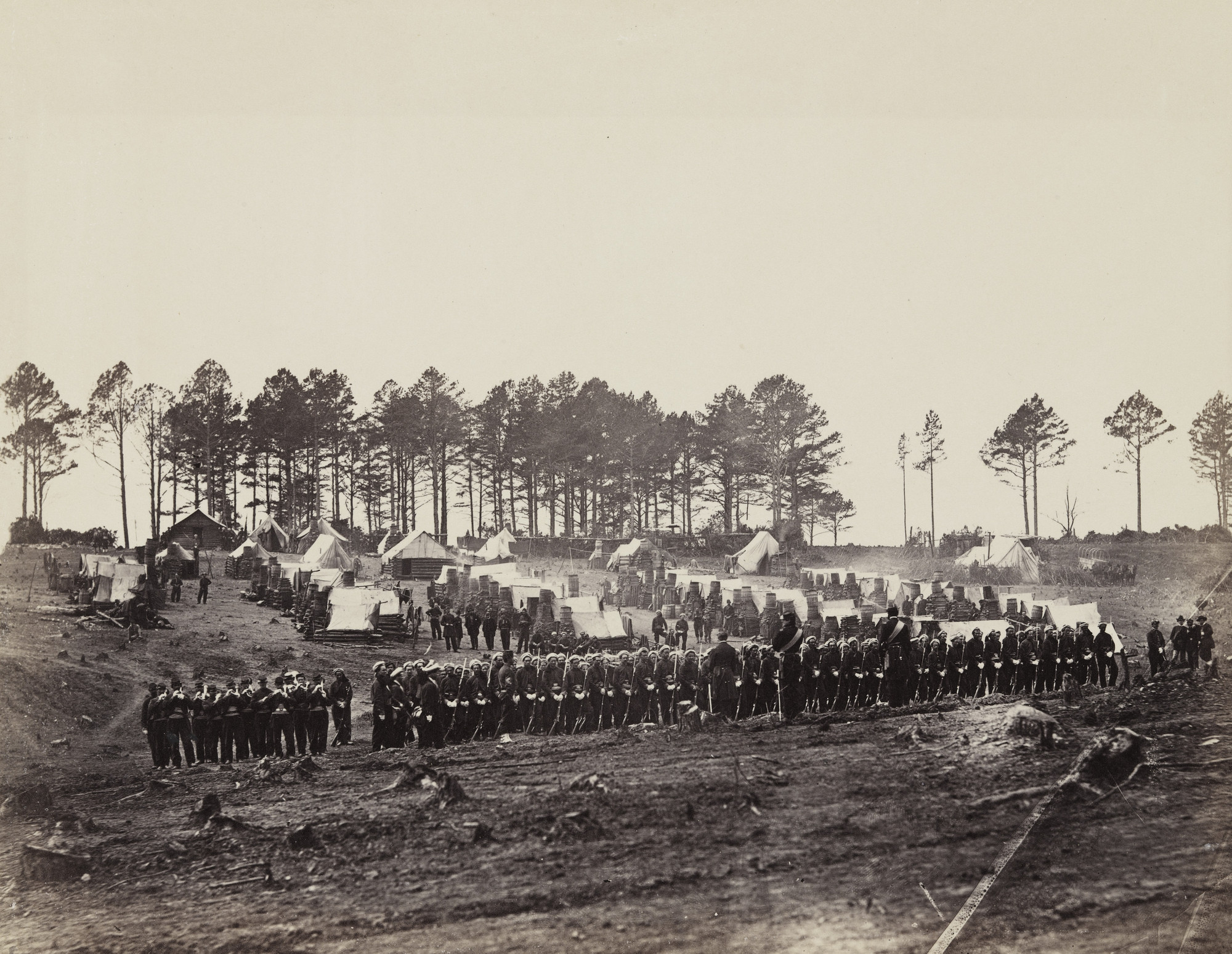 Alexander Gardner, Timothy O'Sullivan. Guard Mount, Head-Quarters Army of the Potomac. February, 1864