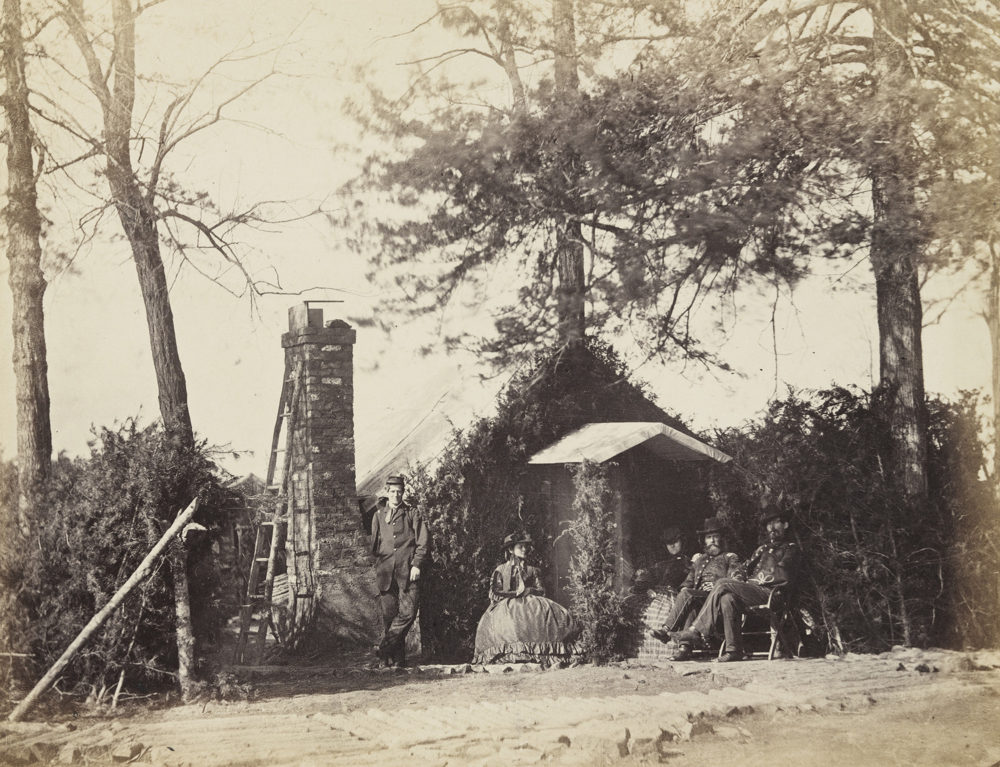 Alexander Gardner, Timothy O'Sullivan. Camp Architecture, Brandy Station, Virginia. January, 1864
