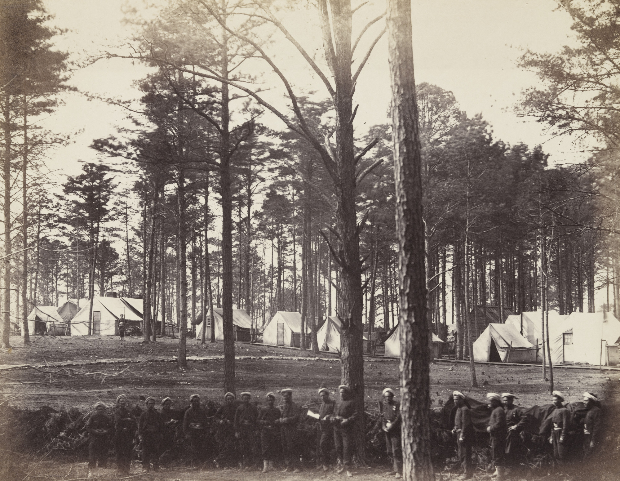 Alexander Gardner, Timothy O'Sullivan. Head-Quarters Army of the Potomac (Brandy Station, Virginia). February, 1864