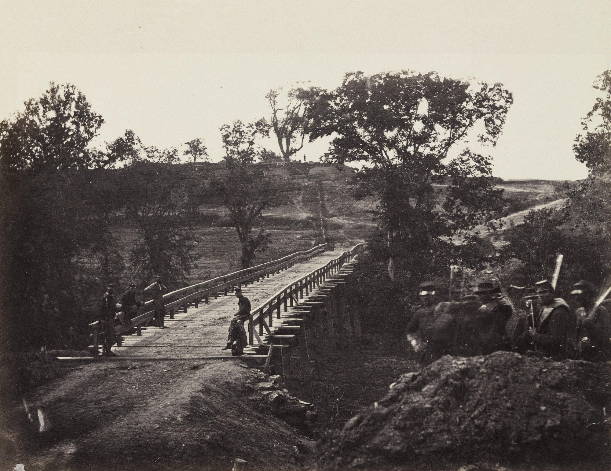 Alexander Gardner, Timothy O'Sullivan. Chesterfield Bridge, North Anna, Virginia. May, 1864