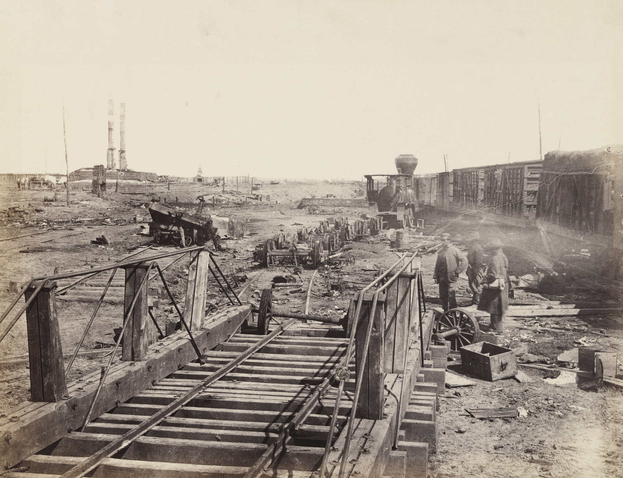 Alexander Gardner. Ruins at Manassas Junction. March 1862