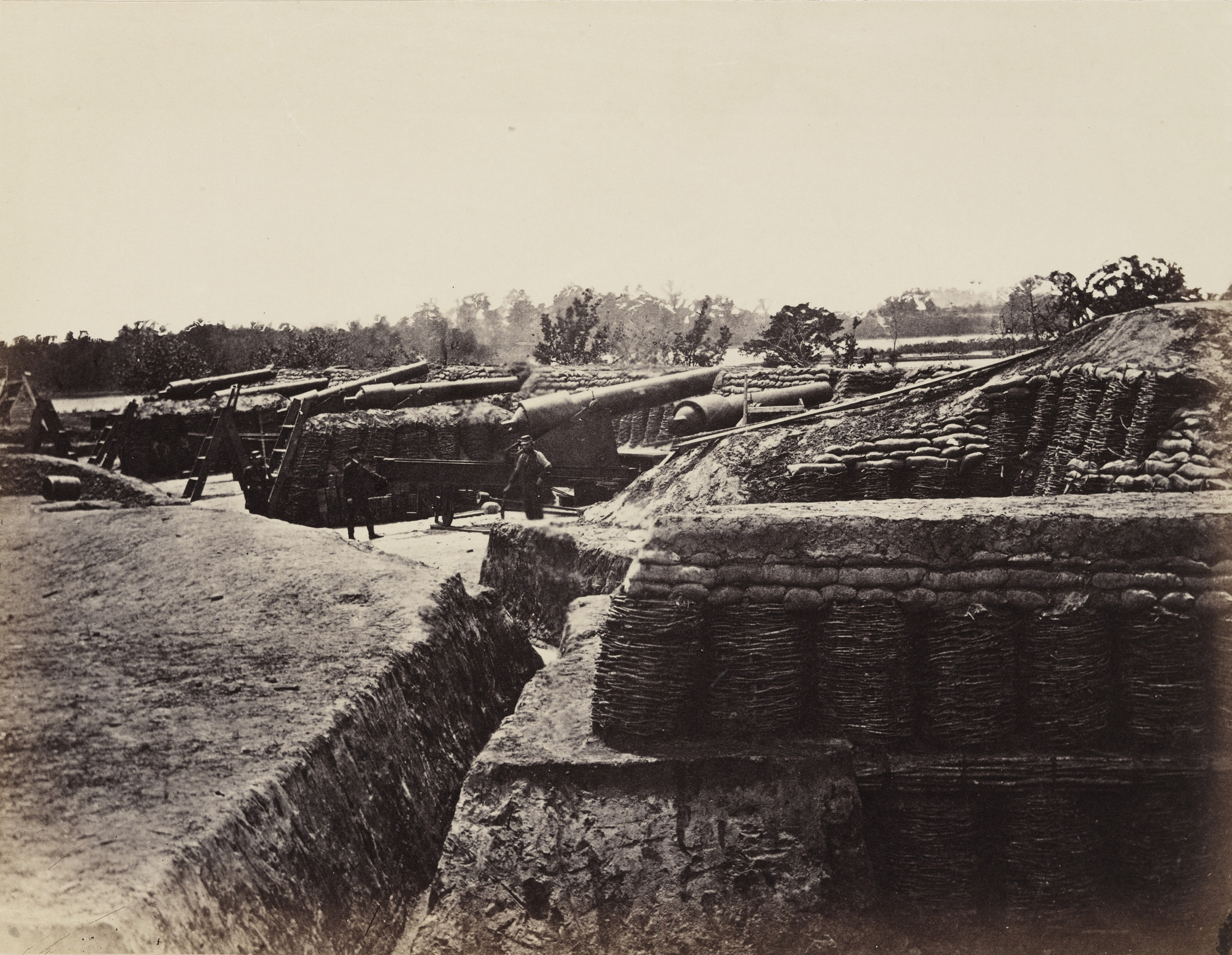 Alexander Gardner. Battery No 1, near Yorktown, Virginia. May, 1862