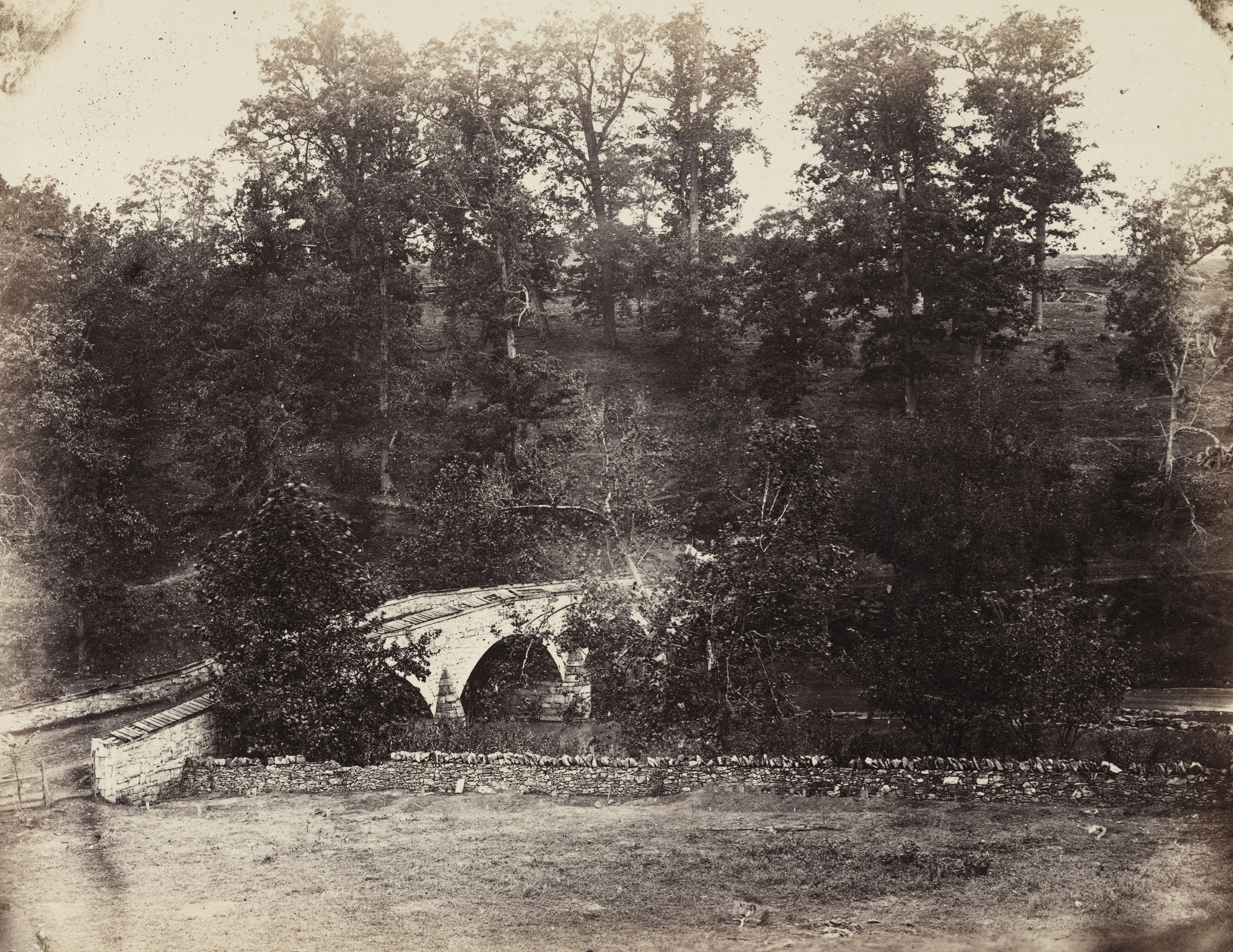 Alexander Gardner. Burnside Bridge, across Antietam Creek, Maryland. September, 1862