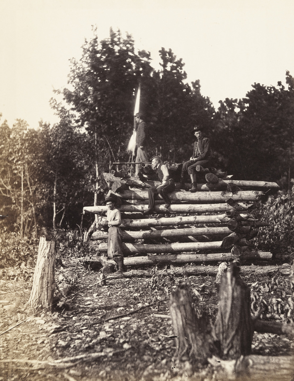 Alexander Gardner, Timothy O'Sullivan. Signal Tower on Elk Mountain, Maryland. September, 1862