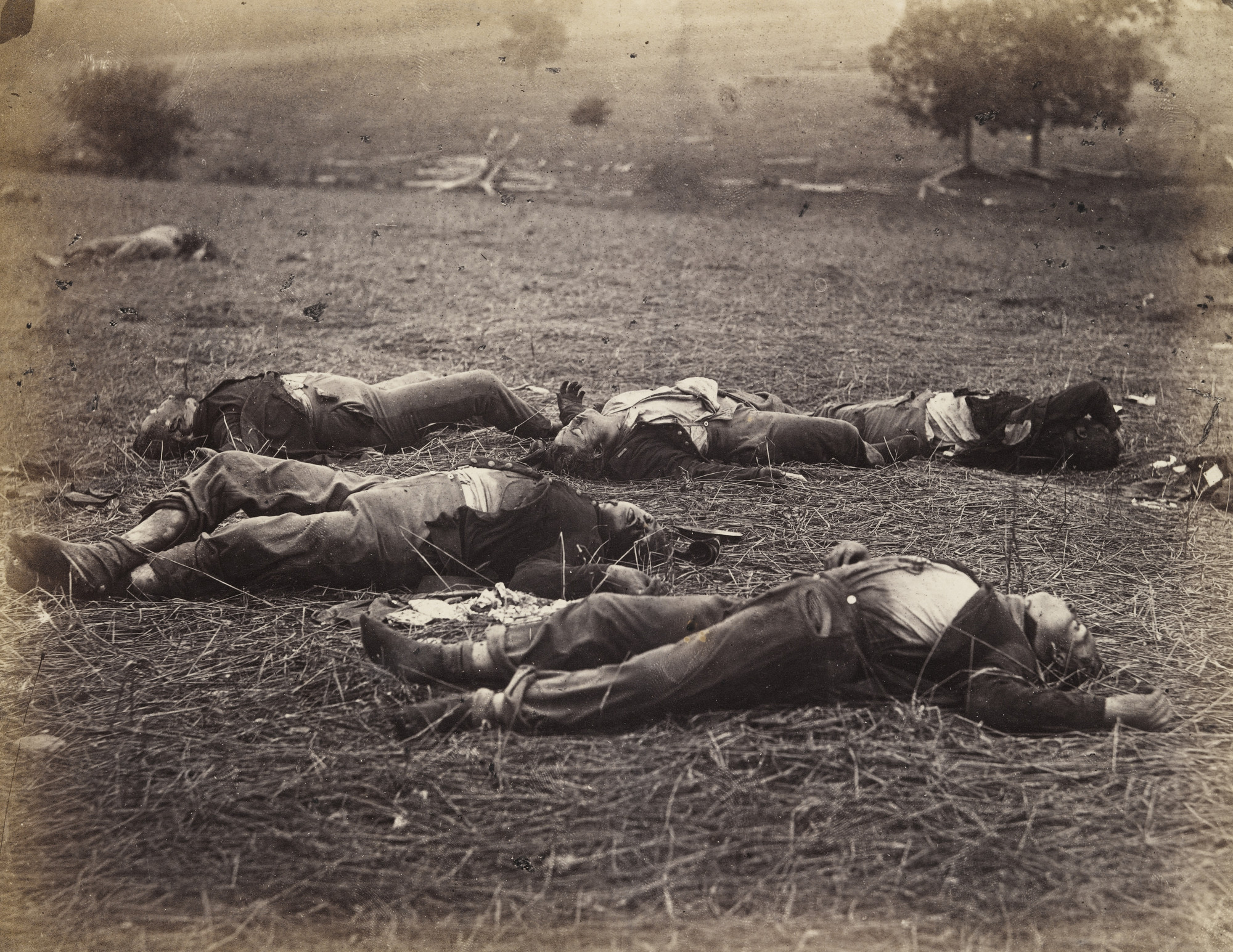 Alexander Gardner, Timothy O'Sullivan. Field Where General Reynolds Fell, Gettysburg.. July 1863