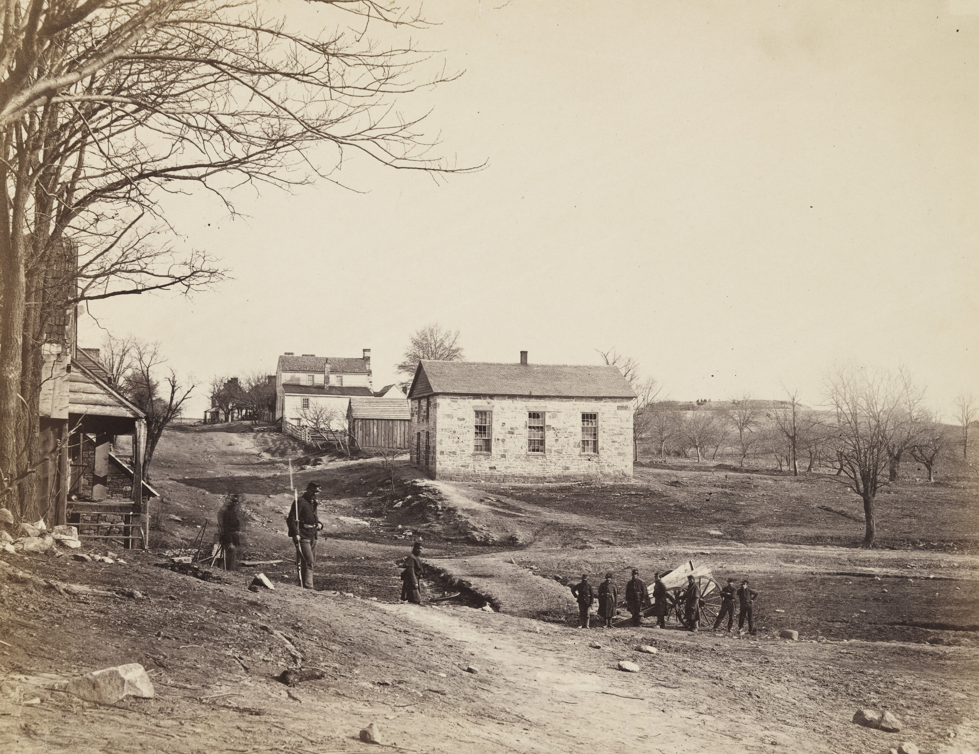 Alexander Gardner. Stone Church, Centreville, Virginia. March 1862