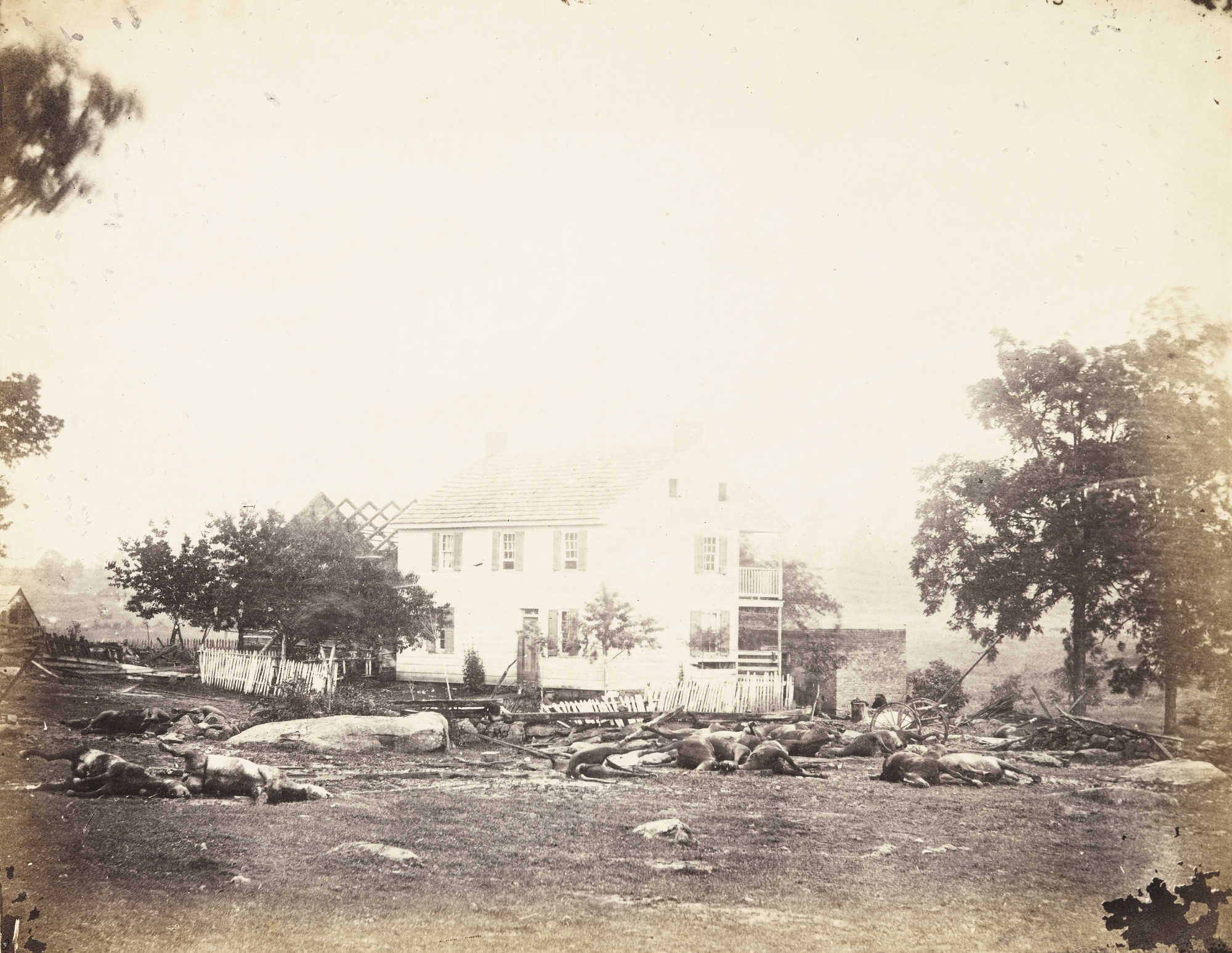 Alexander Gardner, Timothy O'Sullivan. Trossell's House, Battle-Field of Gettysburg. July, 1863