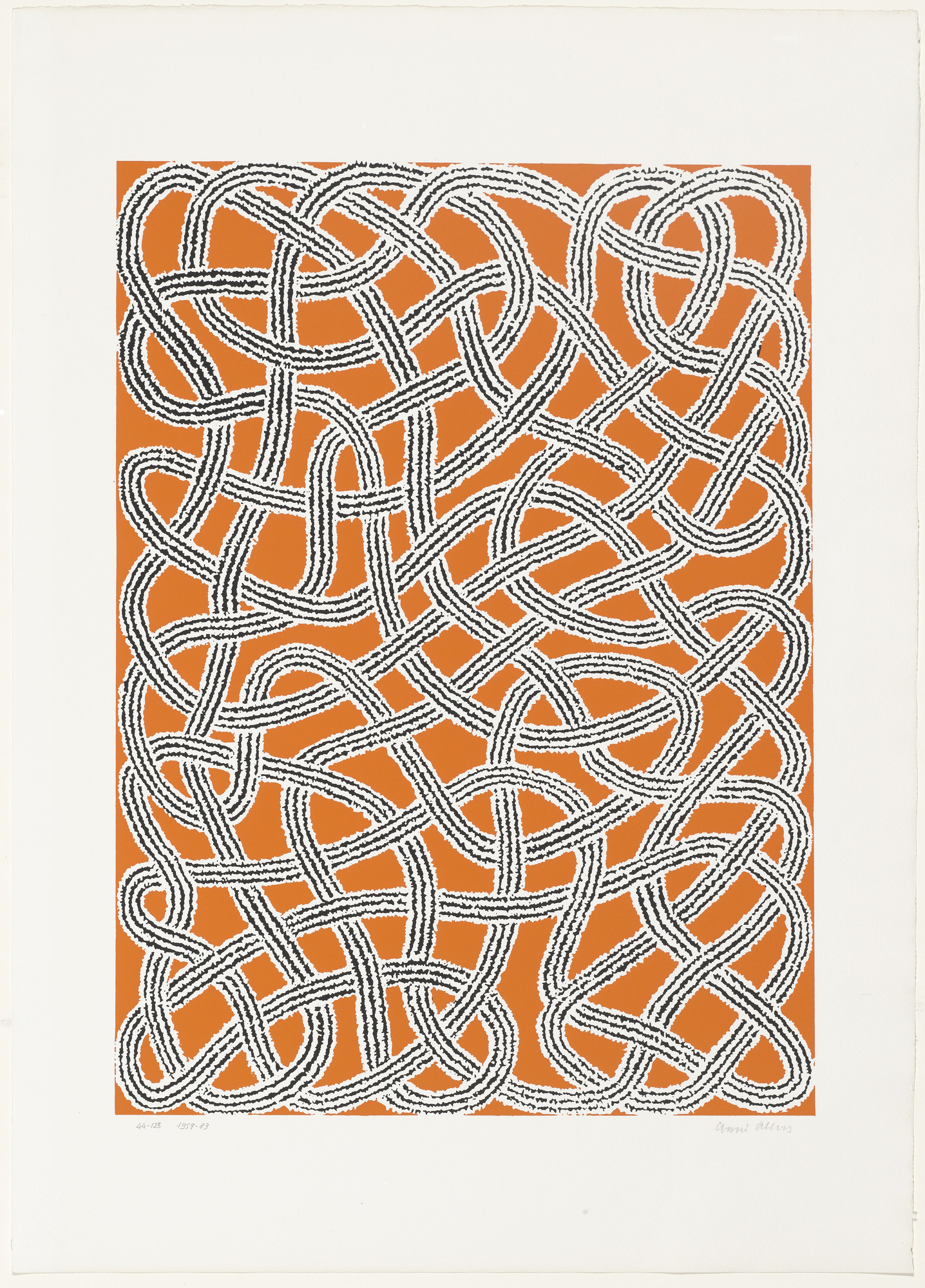Anni Albers. Study for Nylon Rug from Connections. 1983