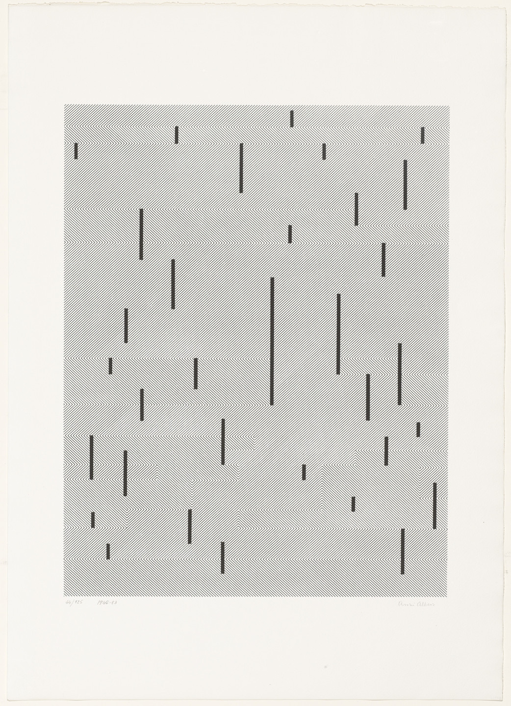 Anni Albers. With Verticals from Connections. 1983