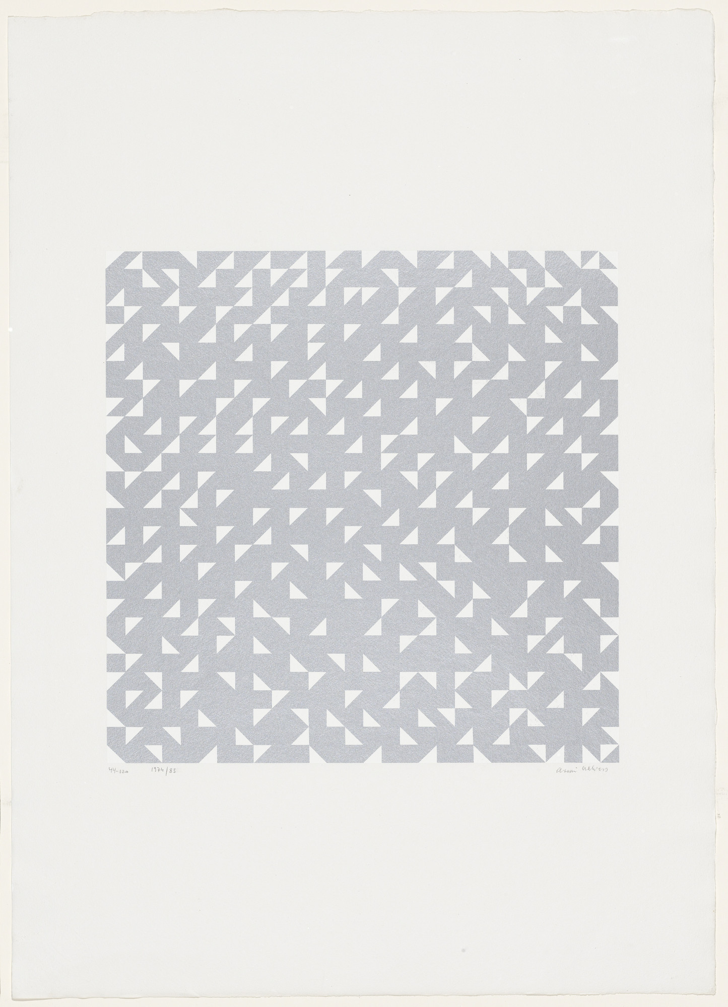 Anni Albers. Triangulated Intaglio from Connections. 1983