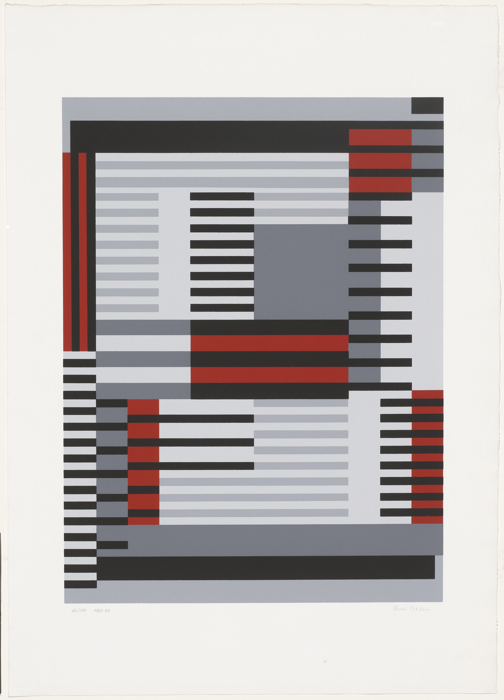 Anni Albers. Smyrna-Knüpfteppich from Connections. 1983