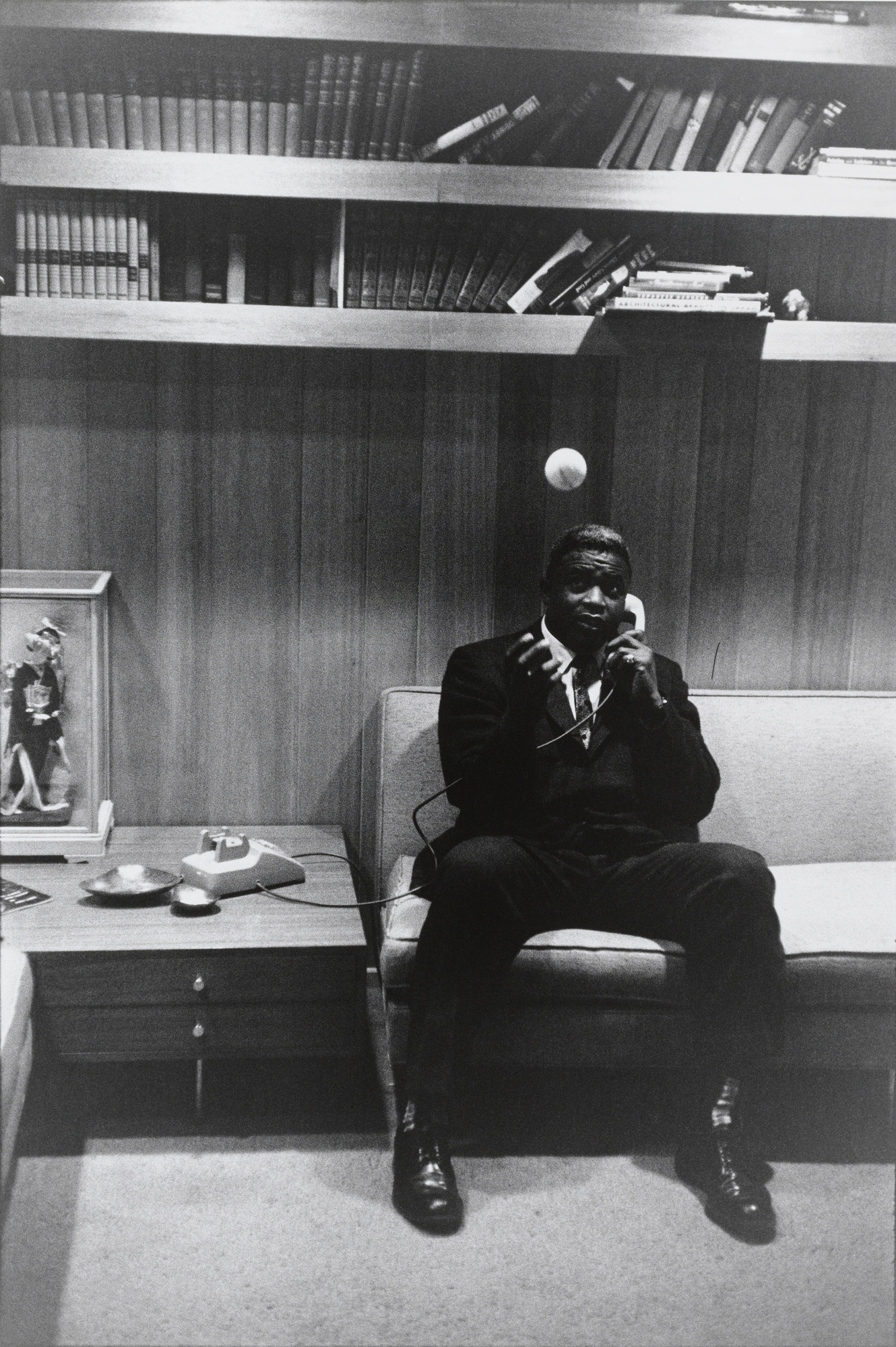 Garry Winogrand. Jackie Robinson, at Home in Connecticut from the portfolio Big Shots. 1961