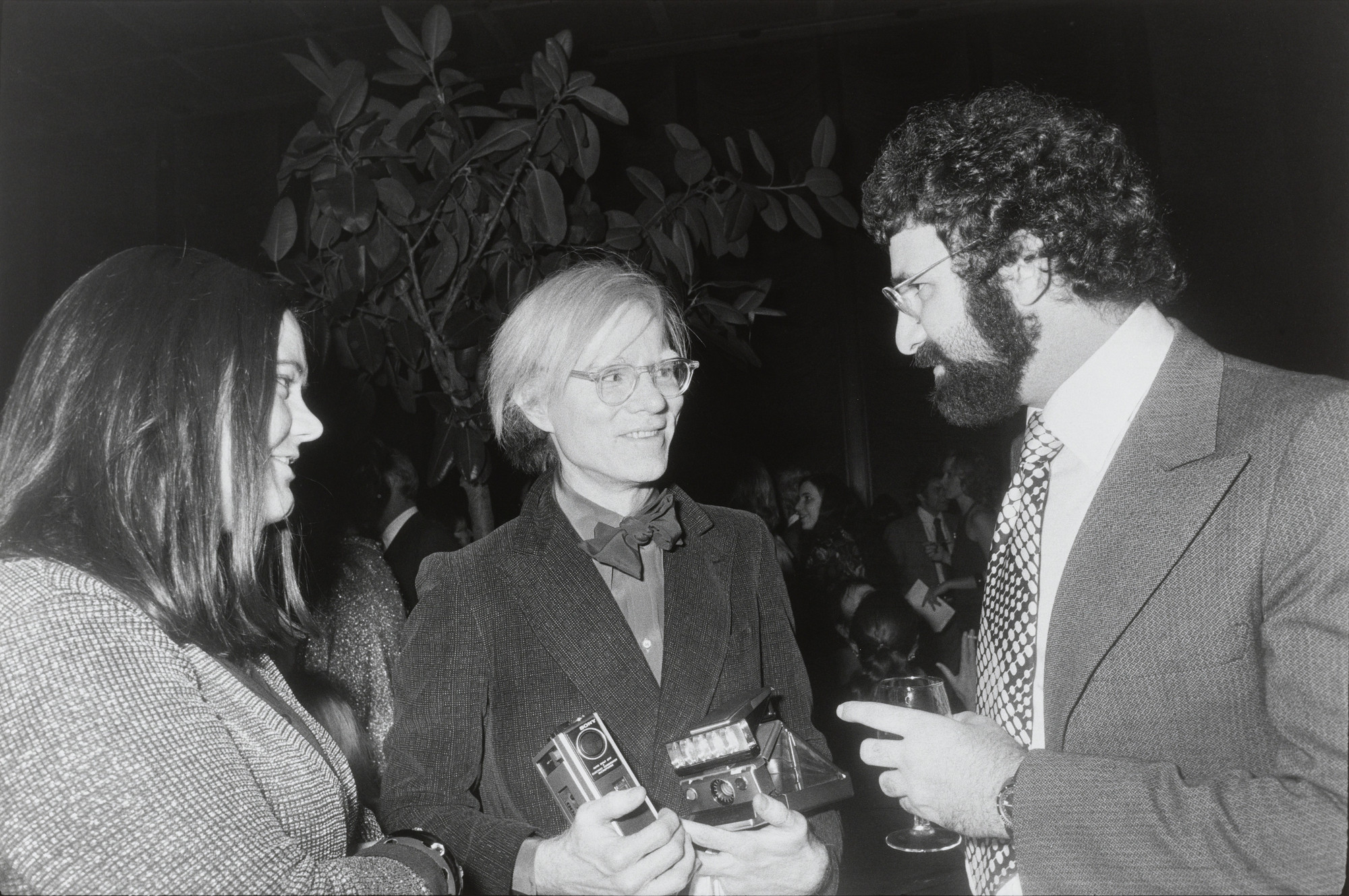 Garry Winogrand. Andy Warhol, Norman Mailer's 50th Birthday Party, New York City from the portfolio Big Shots. 1973