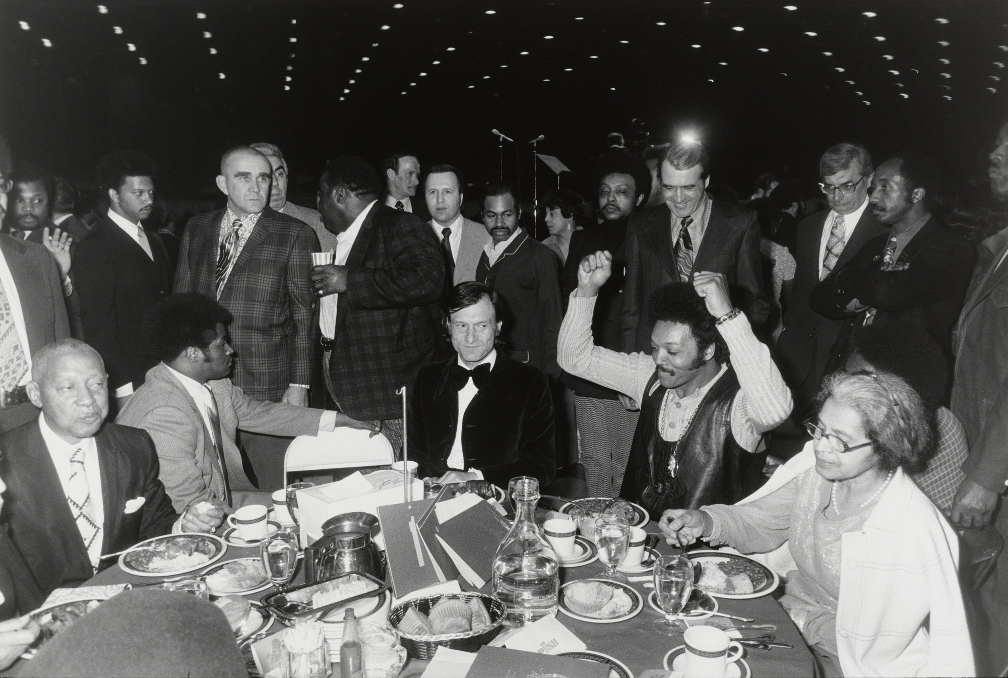 Garry Winogrand. Hugh Hefner and Jesse Jackson, Operation PUSH Fundraiser, Chicago from the portfolio Big Shots. 1972