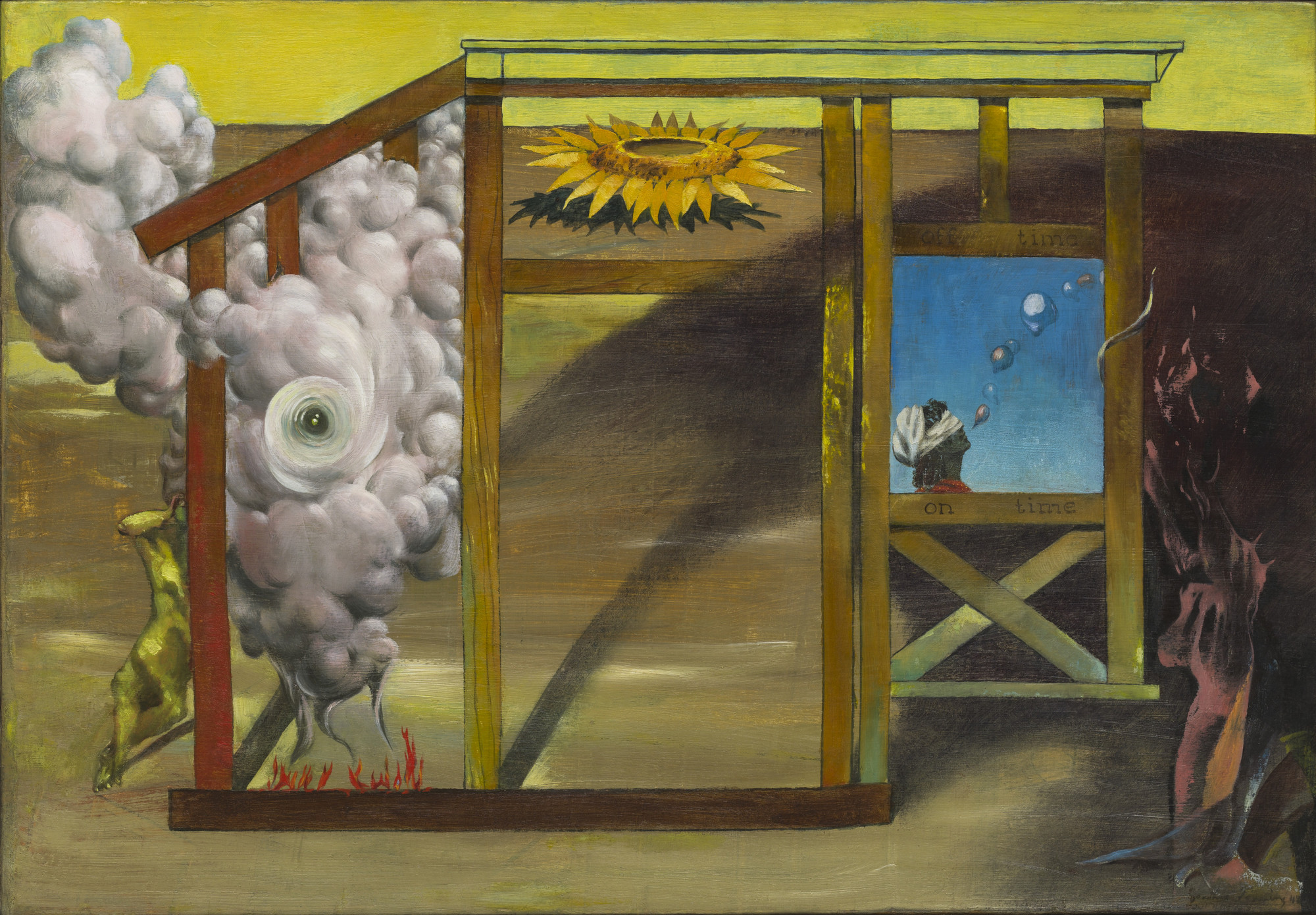 Dorothea Tanning. On Time Off Time. 1948