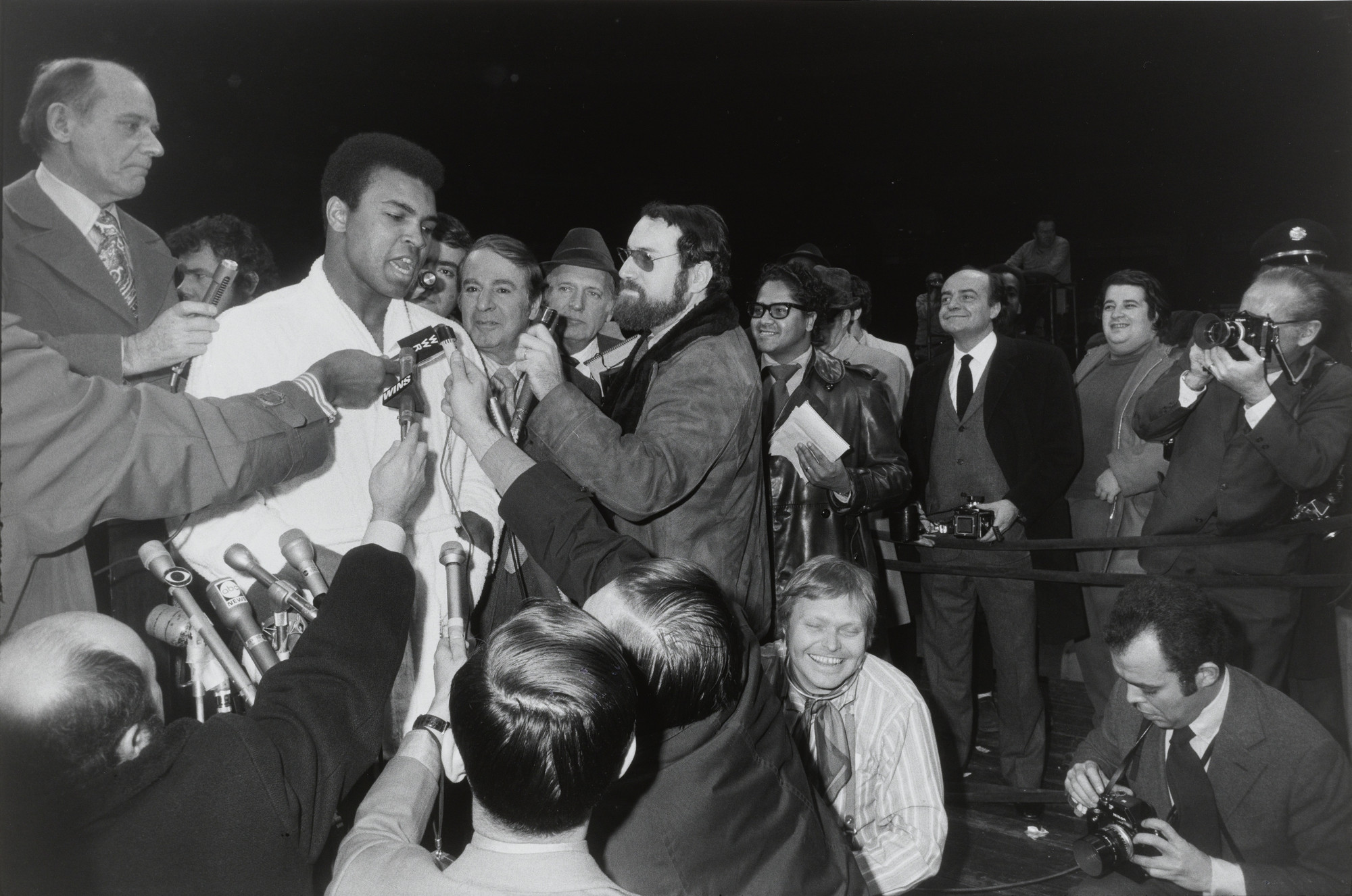 Garry Winogrand. Muhammad Ali and Oscar Bonavena, Press Conference, New York City from the portfolio Big Shots. 1970