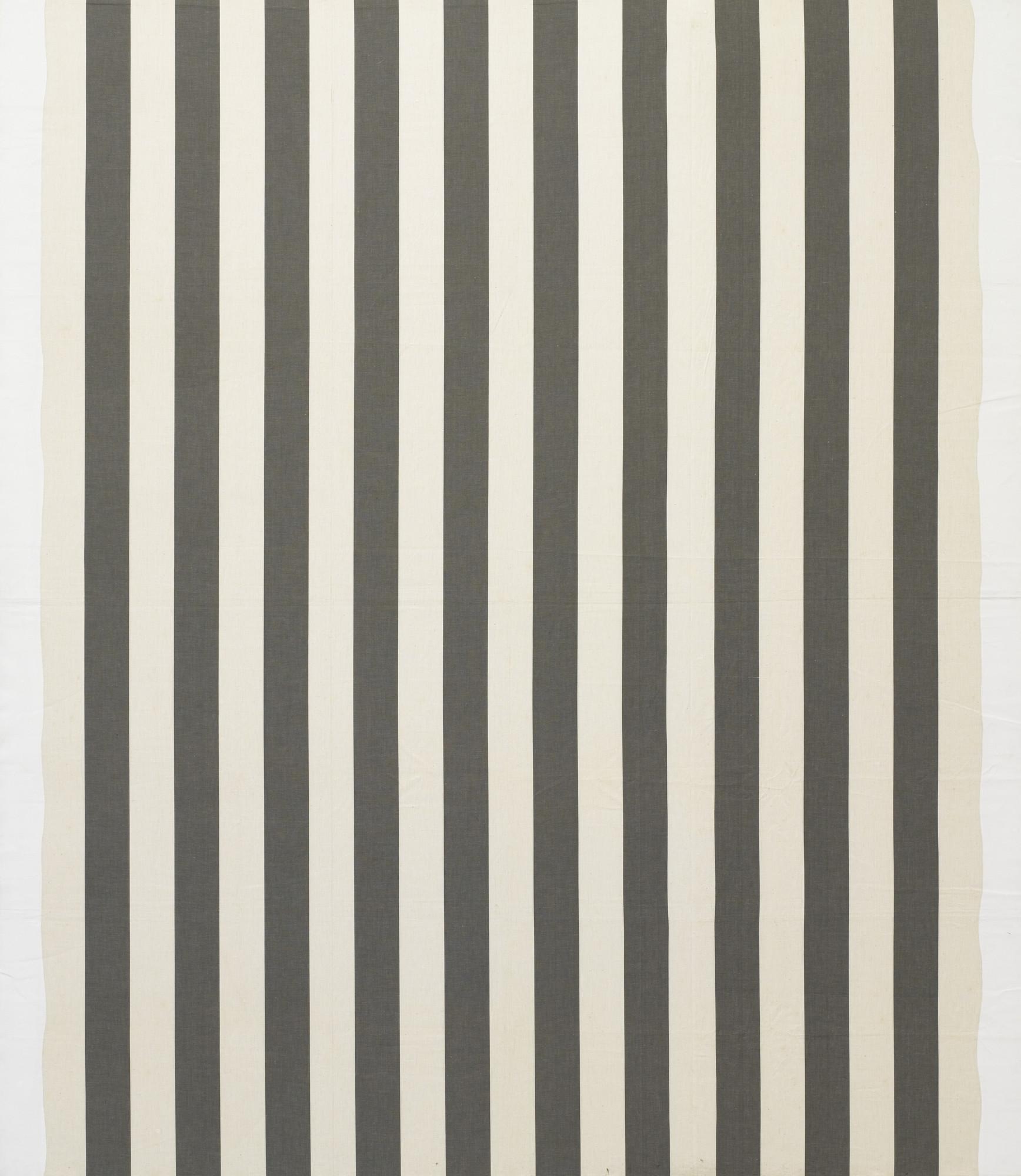Daniel Buren White Acrylic Painting On White And Anthracite Gray