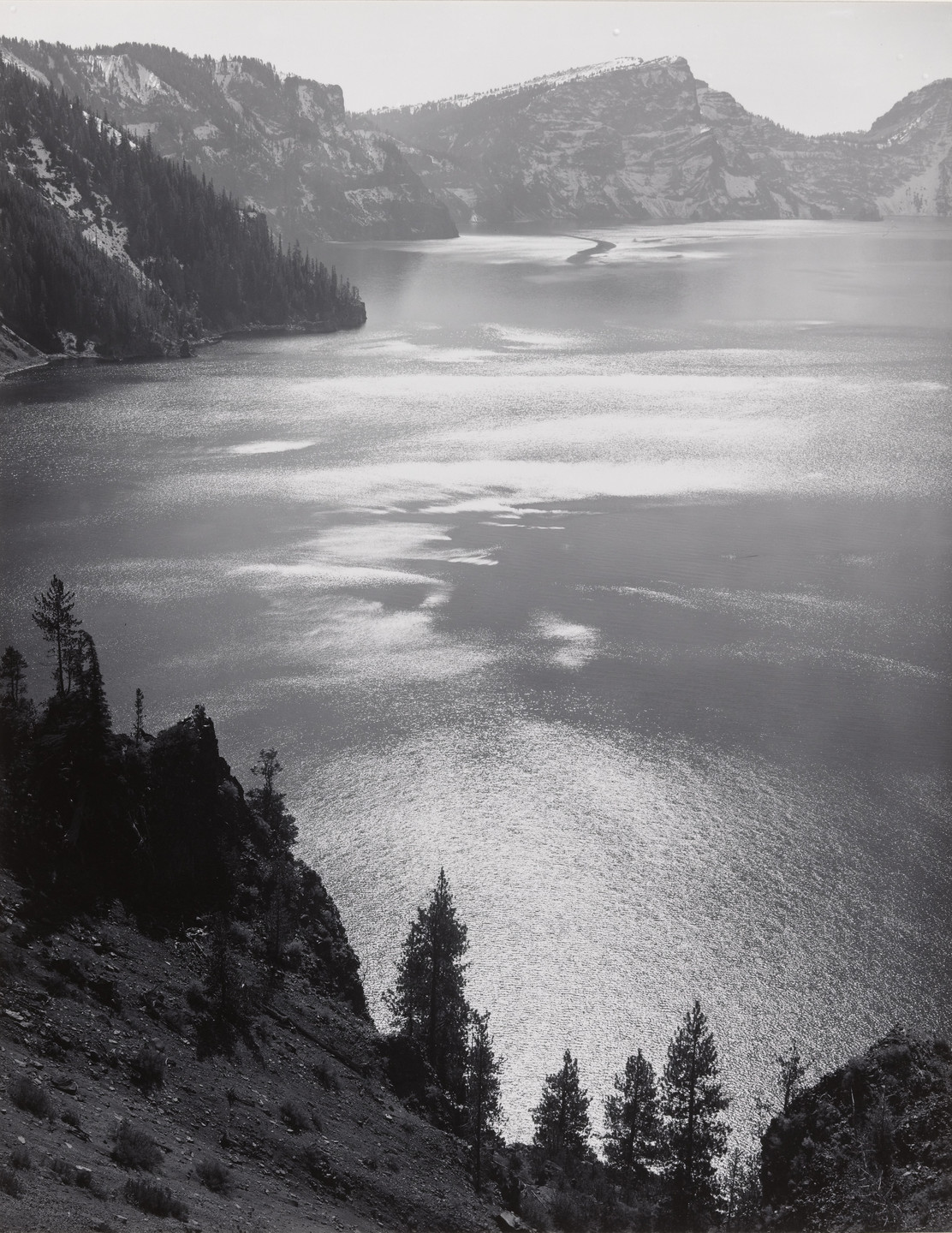 Ansel Adams. Afternoon Sun, Crater Lake National Park, Oregon. 1943