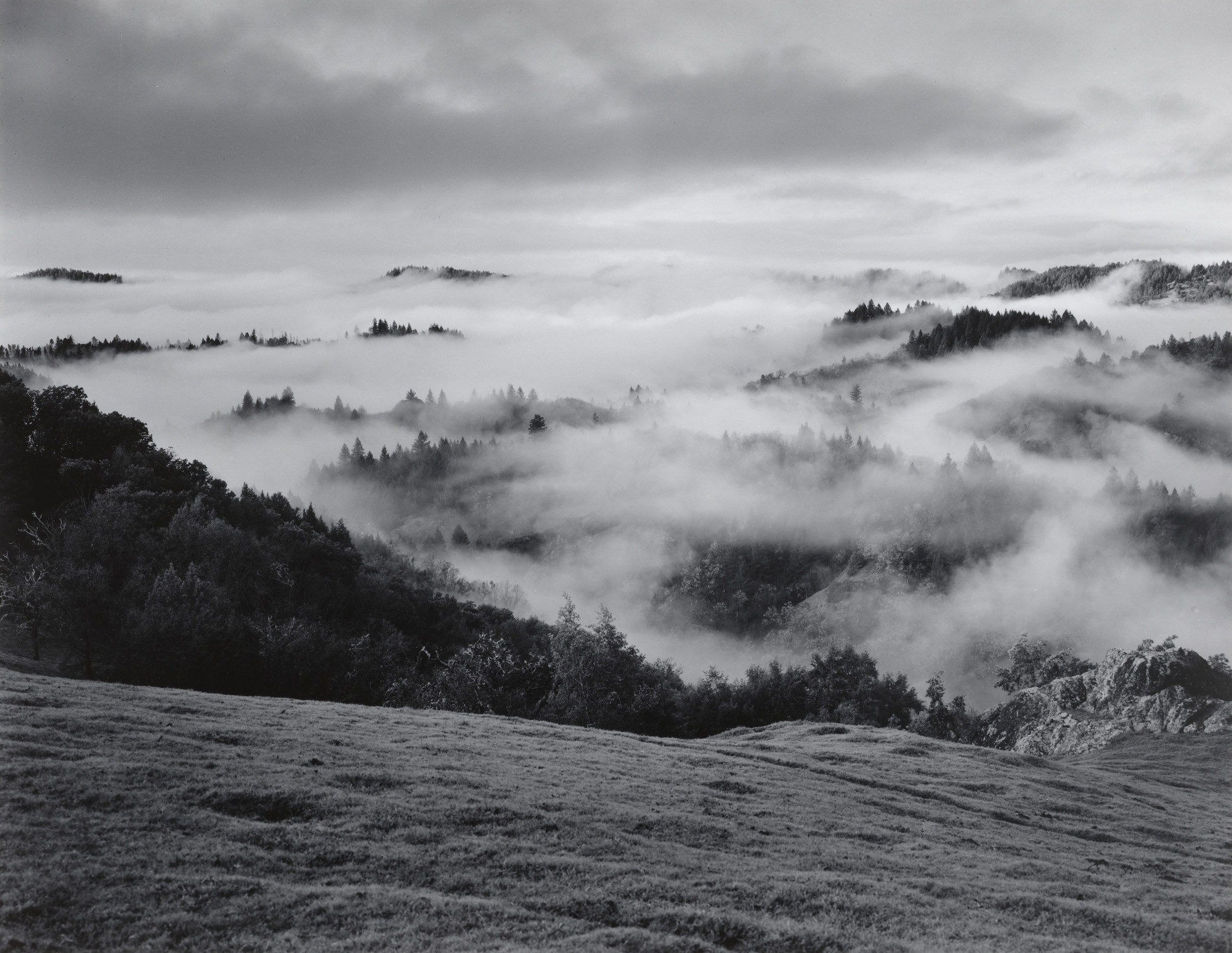 Ansel Adams. Clearing Storm, Sonoma County Hills, California. 1951