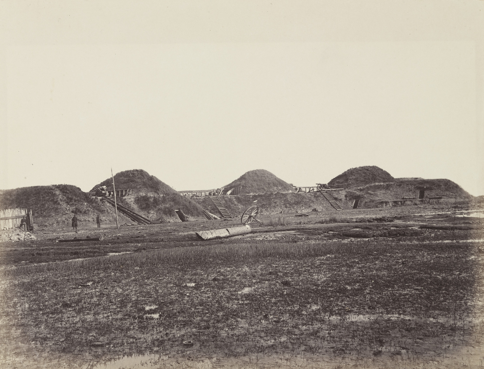 Alexander Gardner, Timothy O'Sullivan. Three first traverses on land end, Fort Fisher, N.C. January, 1865