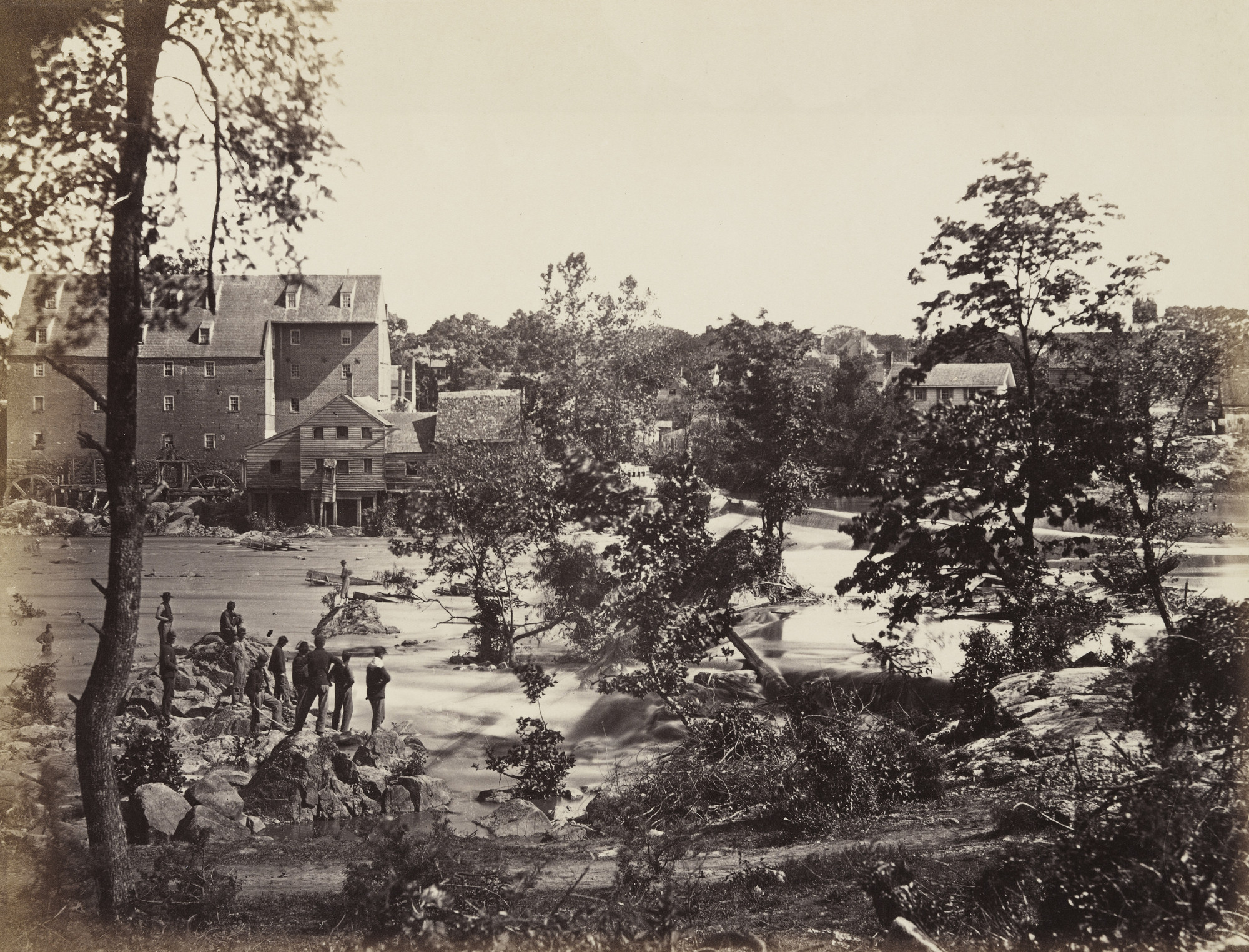 Alexander Gardner, Timothy O'Sullivan. Johnson's Mill, Petersburg, Virginia. May, 1865