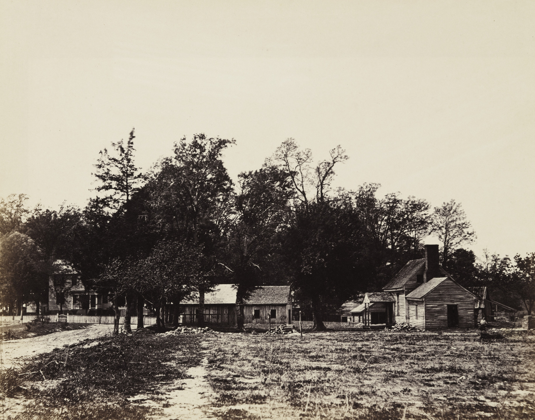 Alexander Gardner. Mechanicsville, Virginia. April, 1865