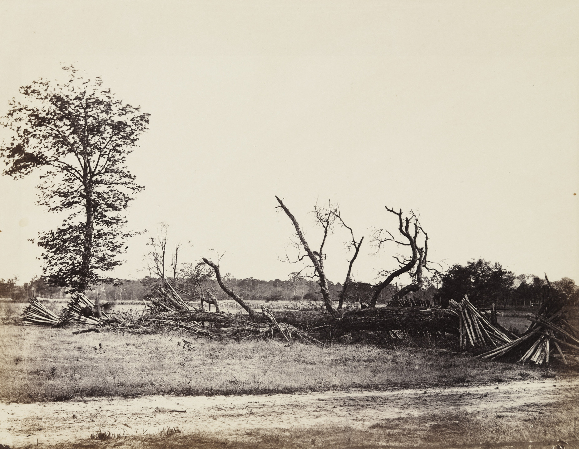 Alexander Gardner. Extreme line of Confederate works, Cold Harbor, Virginia. April, 1865