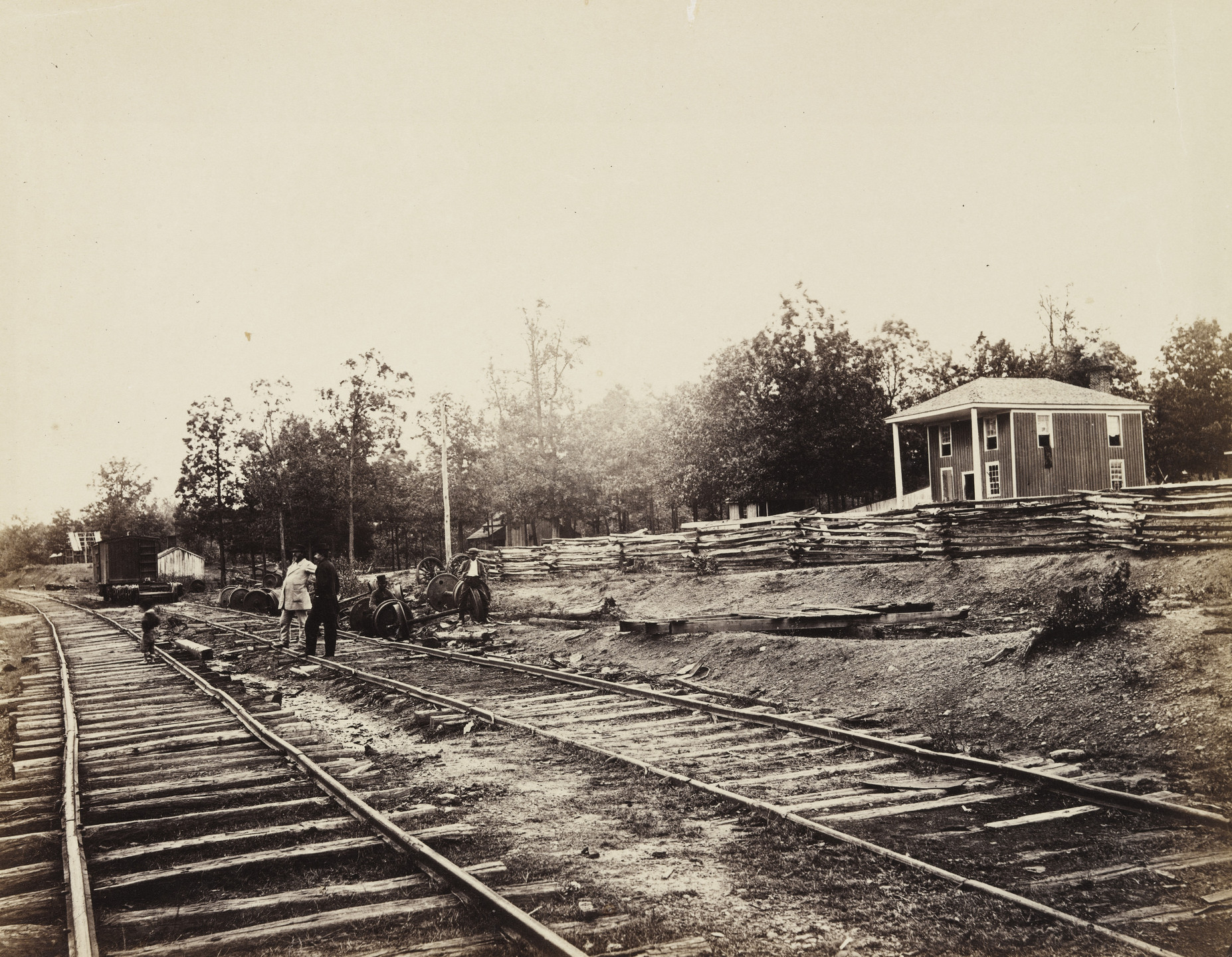 Alexander Gardner, Timothy O'Sullivan. Appomattox Station, Virginia. April, 1865