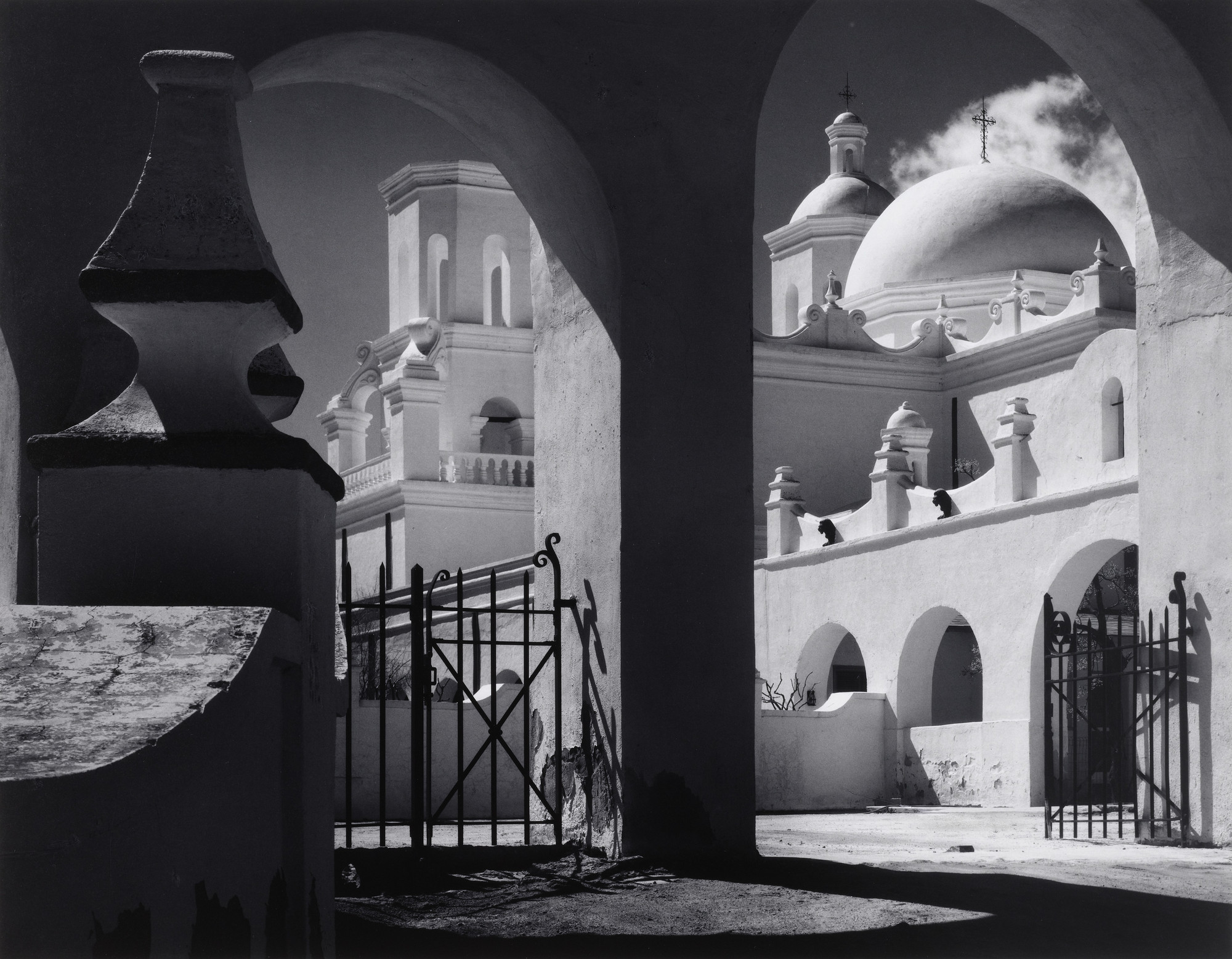 Ansel Adams. Arches, North Court, Mission San Xavier Del Bac, Tucson, Arizona. 1968
