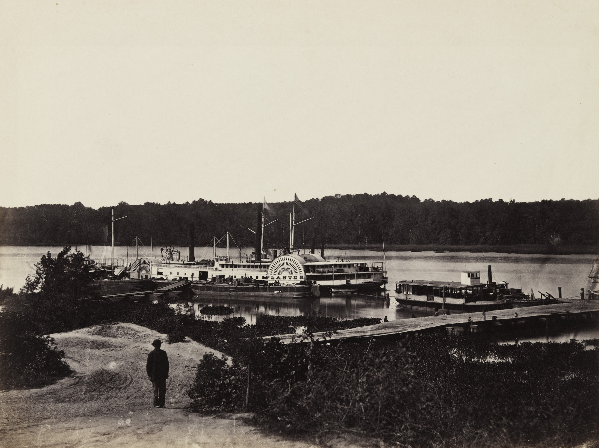 Alexander Gardner. Medical Supply Boat, Appomattox Landing, Virginia. January, 1865