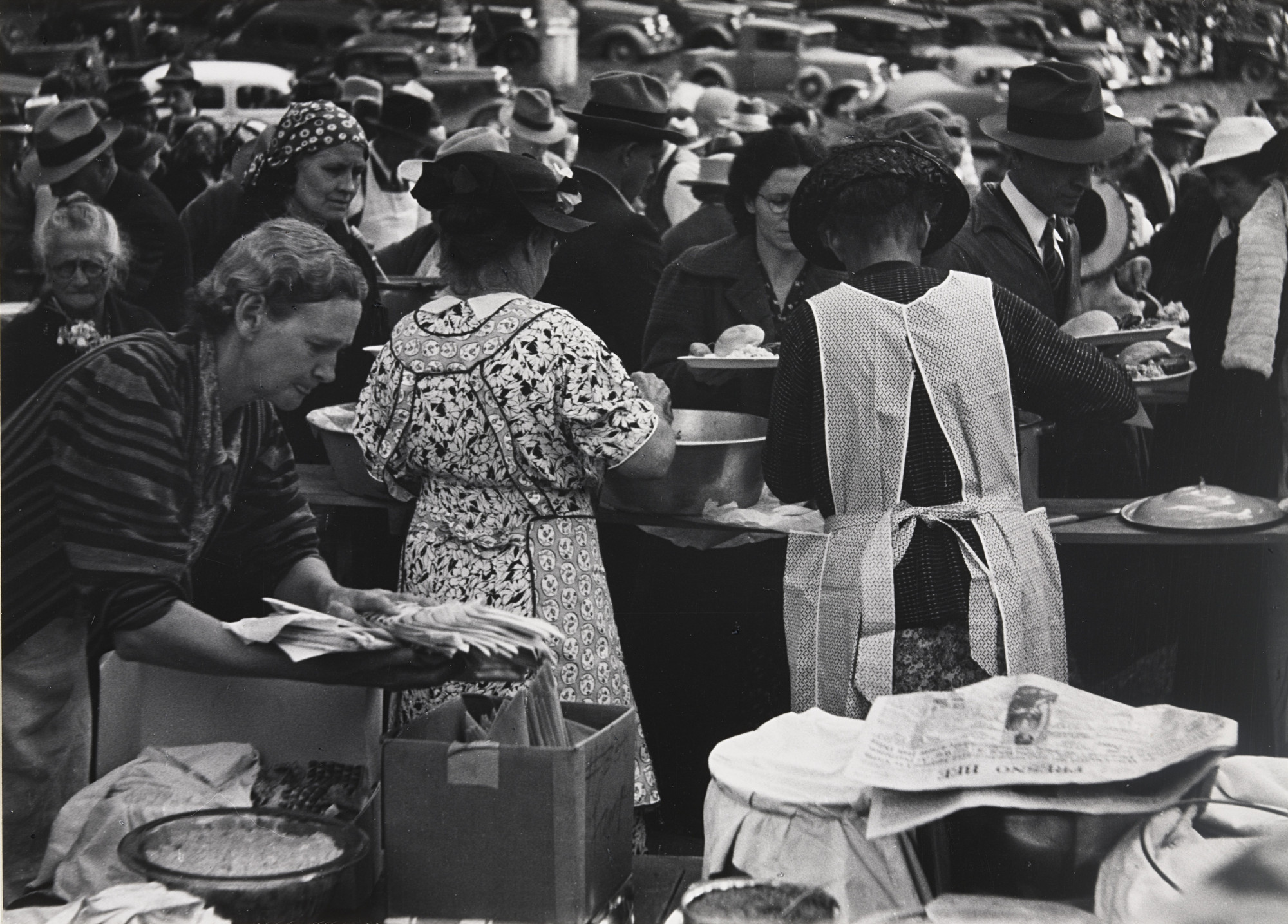 Ansel Adams. Barbecue, Hornitos, California. 1938