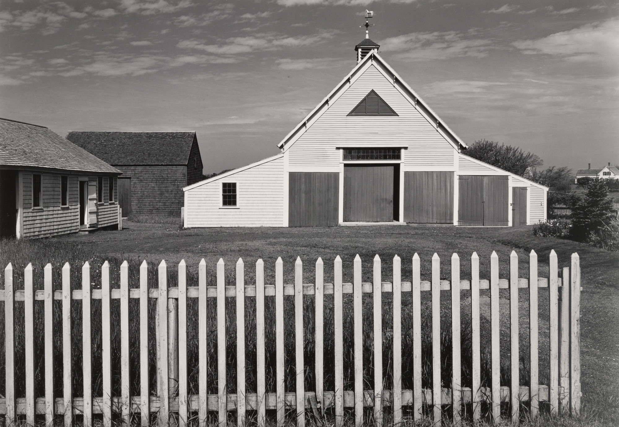 Ansel Adams. Barn Fence, Cape Cod. 1939
