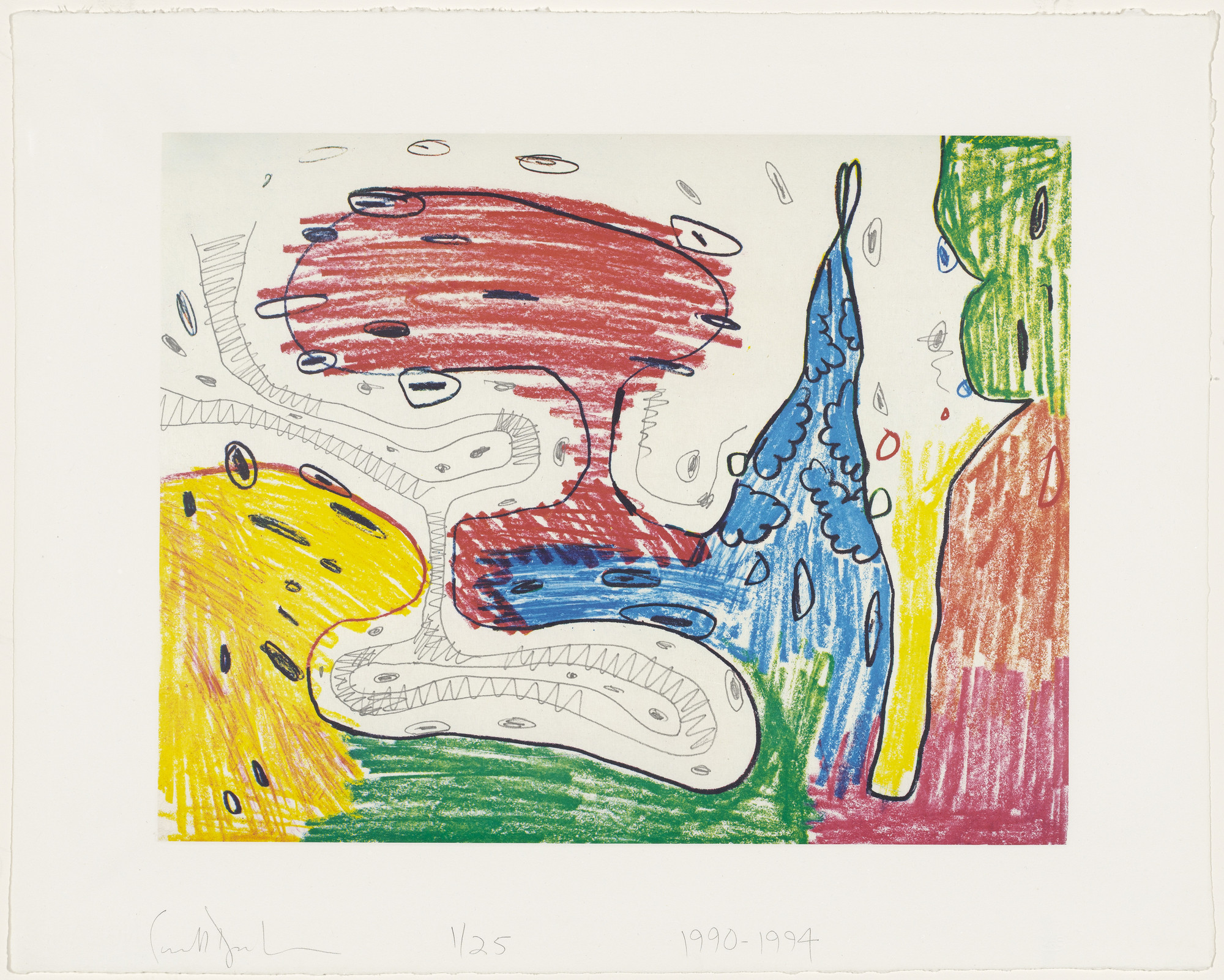 Carroll Dunham. Gamma from Seven Places. 1990-94