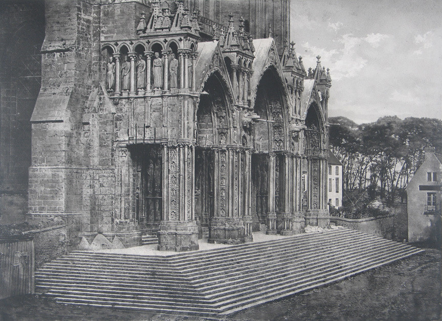 Charles Nègre. South Porch, Cathedral of Chartres. 1856 or 1857