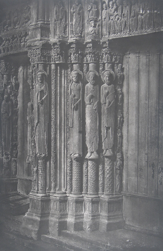 Charles Nègre. Jamb Figures of Central Door of Royal Portal, Chartres Cathedral. 1857