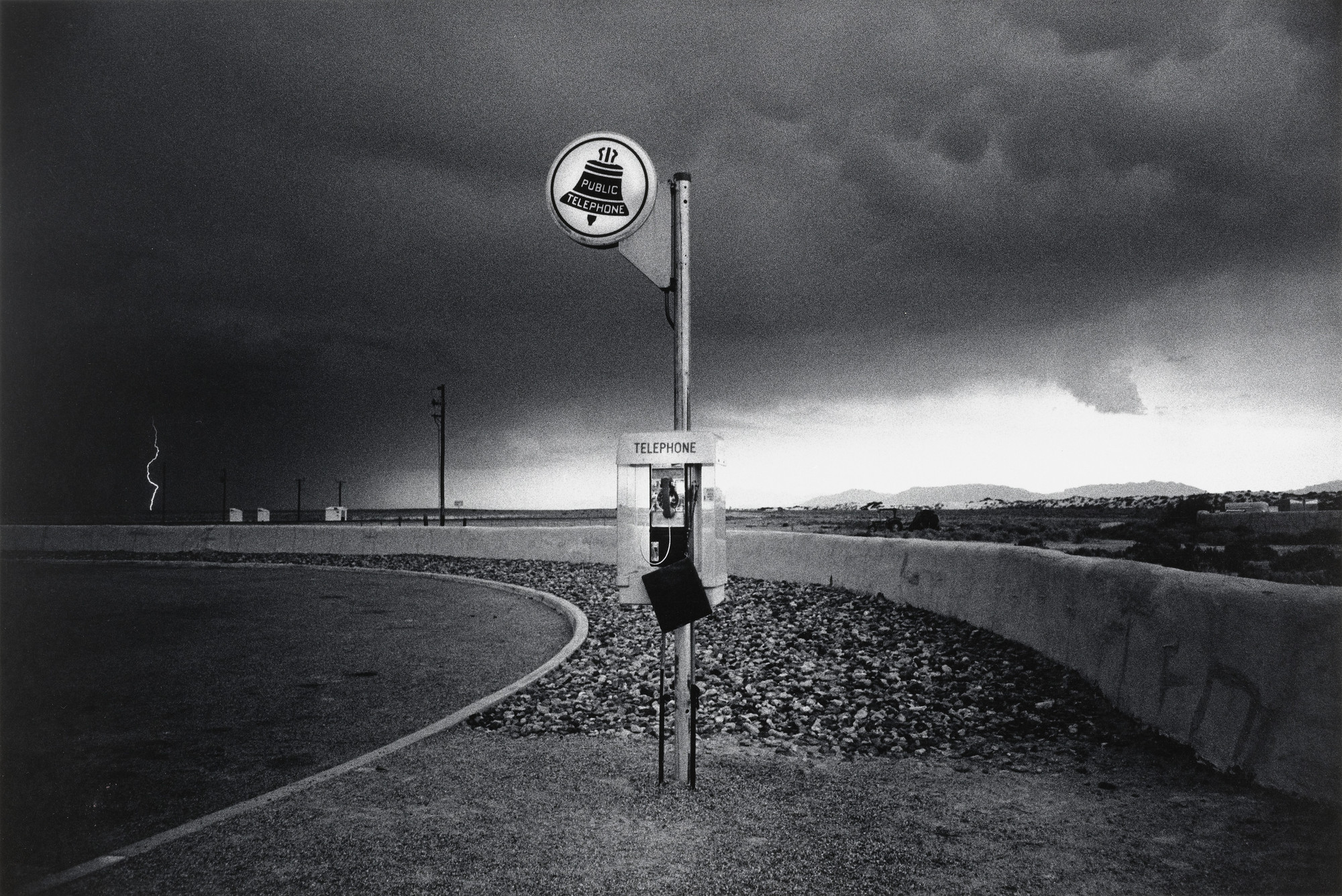 Ikko (Ikko Narahara). Highway Telephone and Lightning, New Mexico. 1972