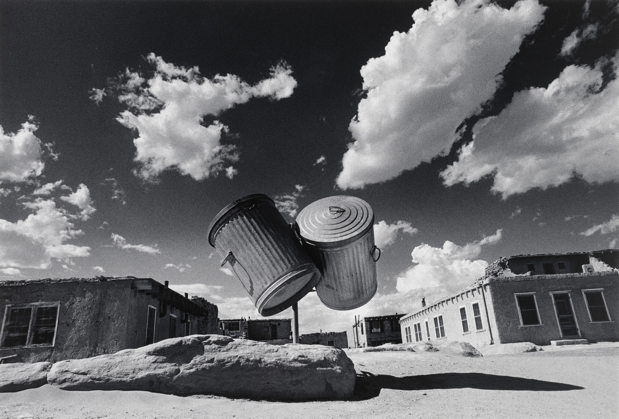 Ikko (Ikko Narahara). Two Garbage Cans, Indian Village, New Mexico. 1972
