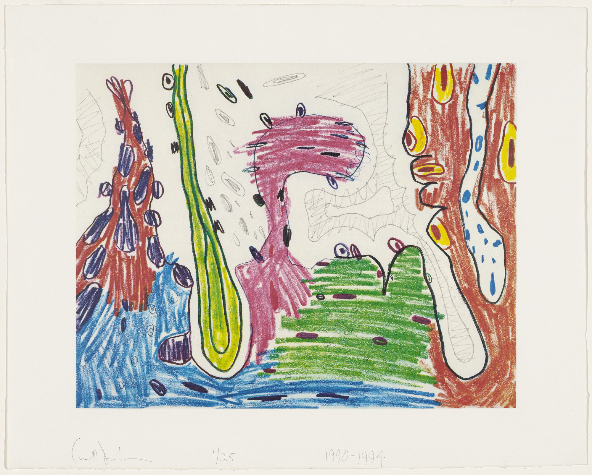 Carroll Dunham. Epsilon from Seven Places. 1990-94