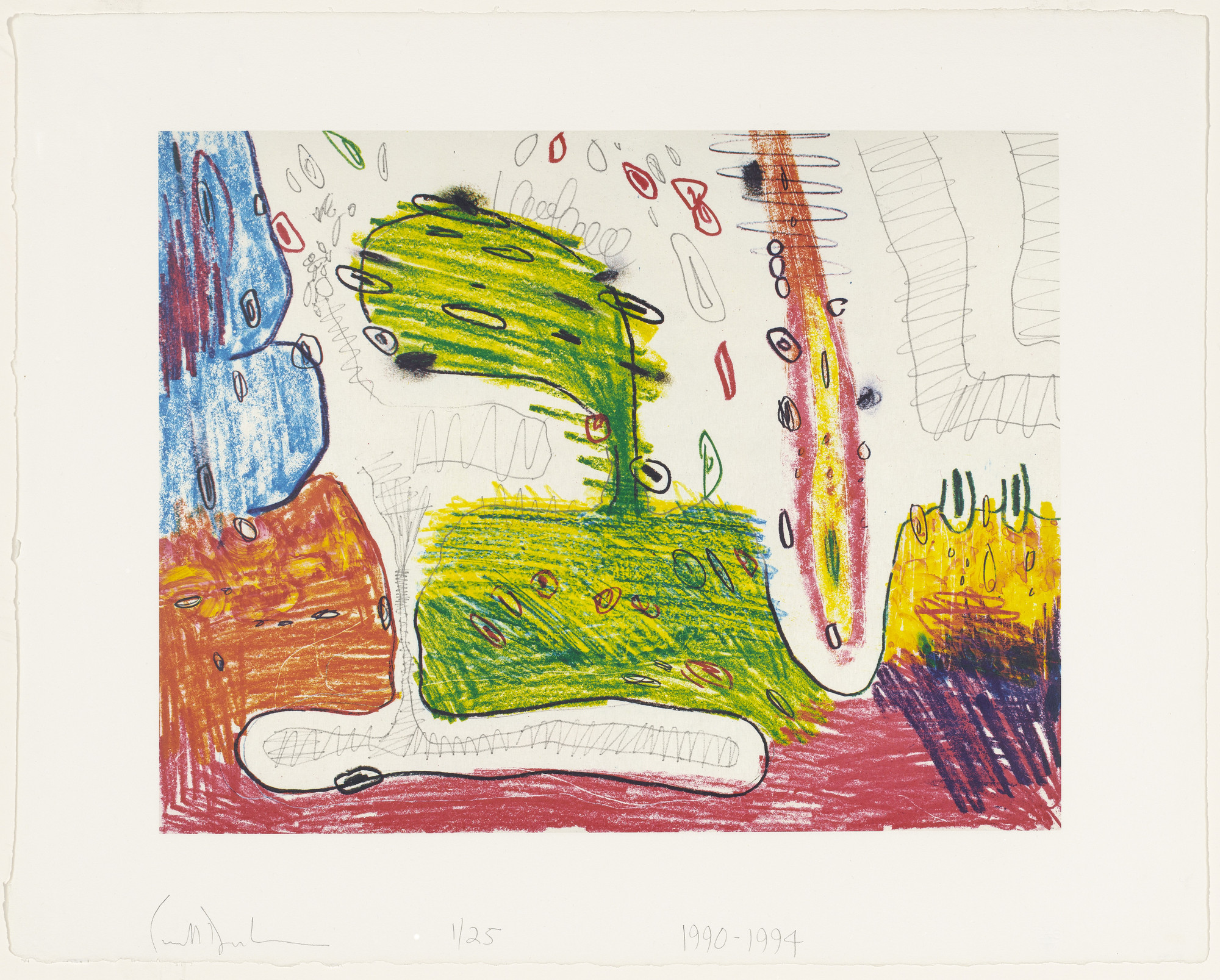 Carroll Dunham. Zeta from Seven Places. 1990-94