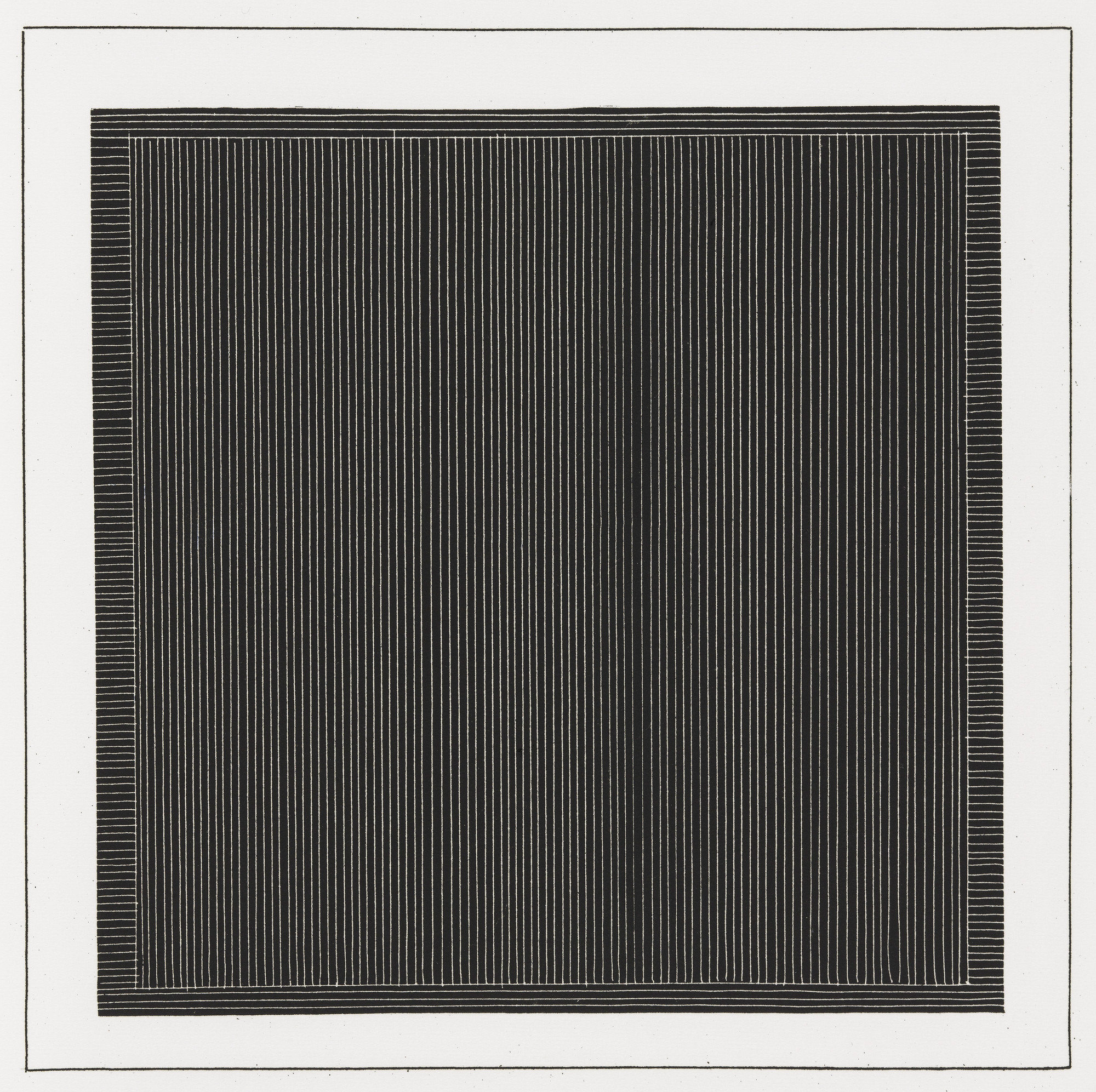 Sol LeWitt. Plate (folio 2) from Six Geometric Figures and All Their Combinations, Volume I. 1980