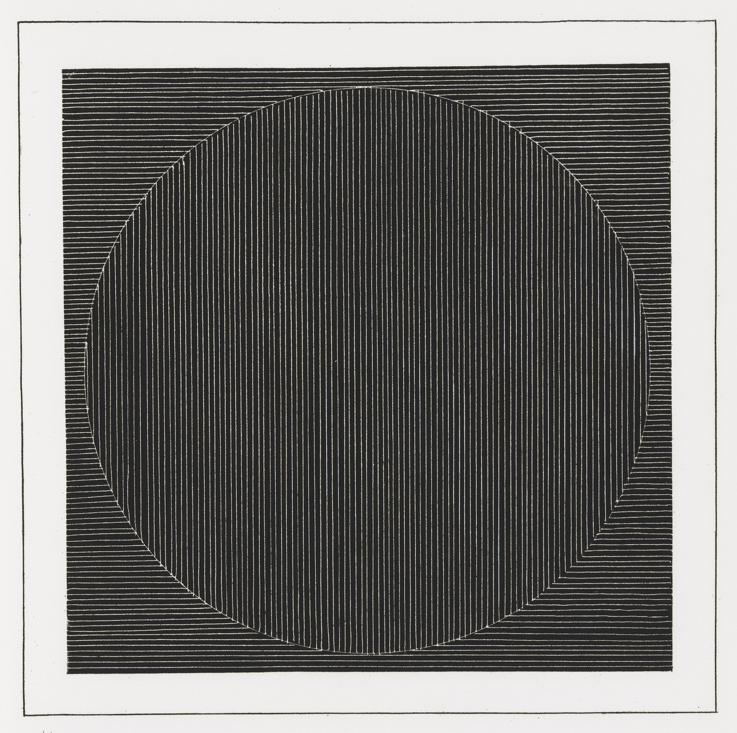 Sol LeWitt. Plate (folio 3) from Six Geometric Figures and All Their Combinations, Volume I. 1980