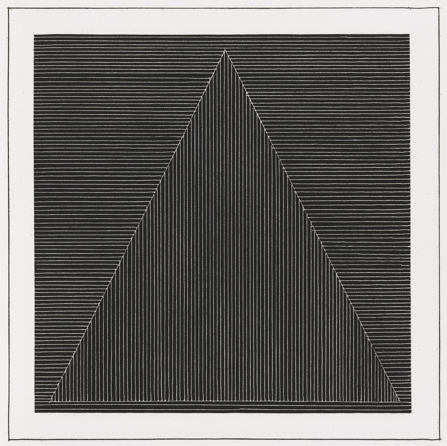 Sol LeWitt. Plate (folio 4) from Six Geometric Figures and All Their Combinations, Volume I. 1980