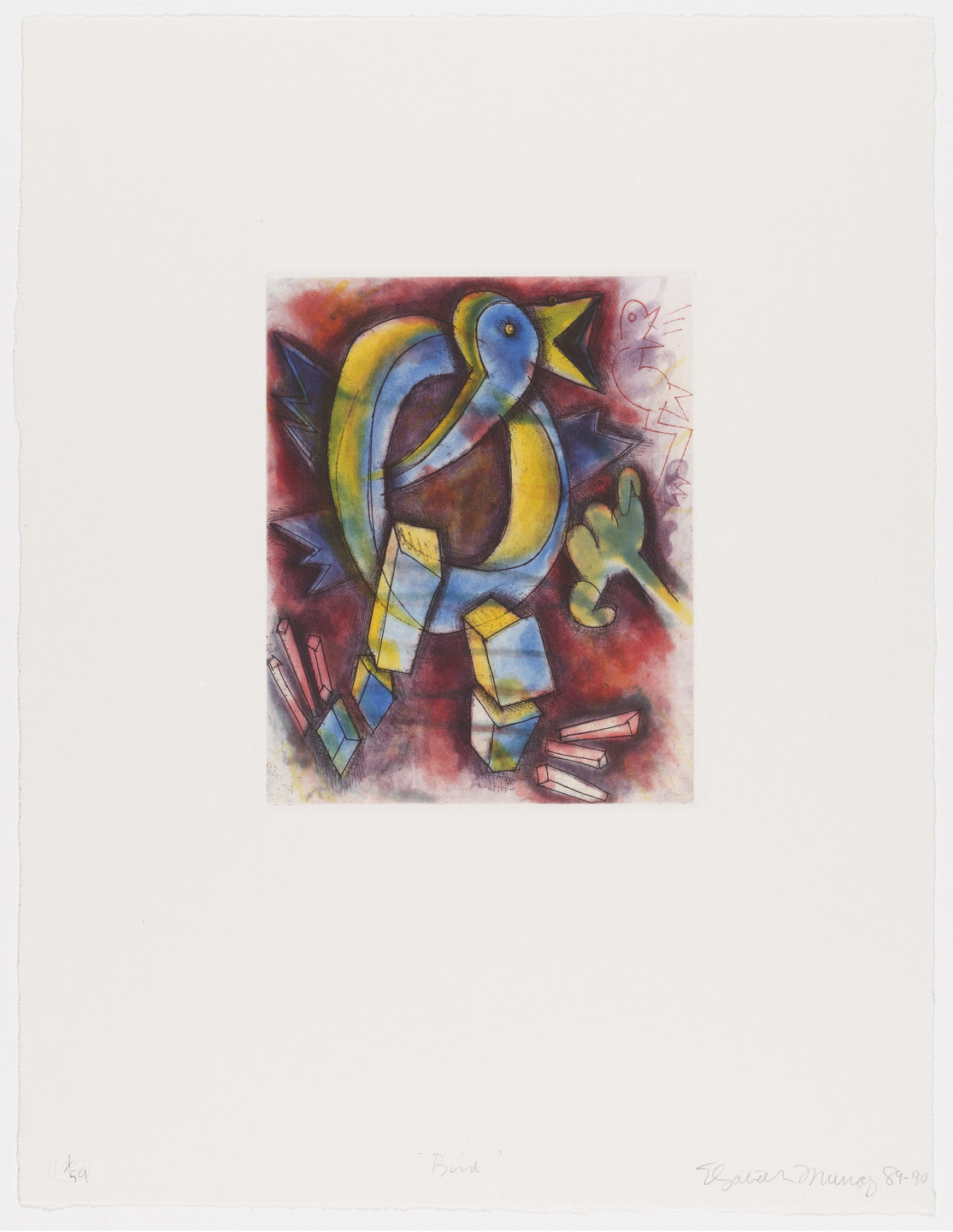 Elizabeth Murray. Bird from Quartet. 1989–90