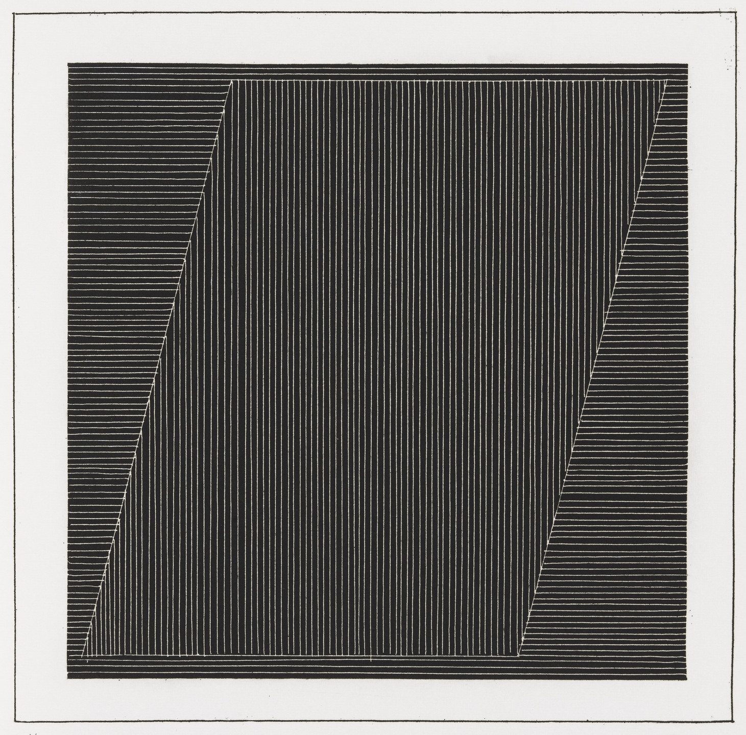Sol LeWitt. Plate (folio 7) from Six Geometric Figures and All Their Combinations, Volume I. 1980
