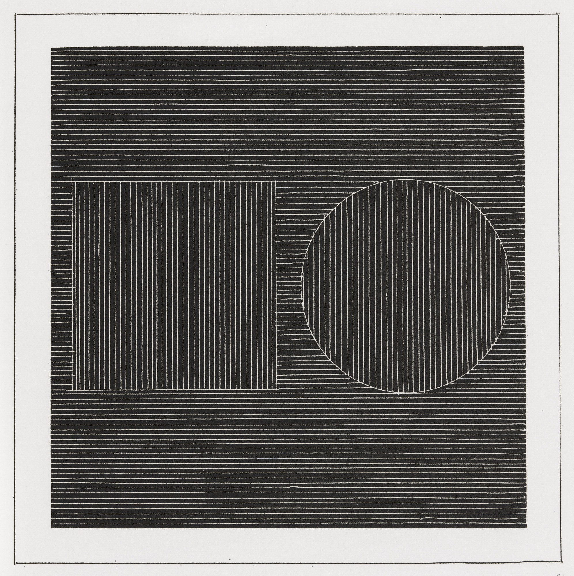 Sol LeWitt. Plate (folio 8) from Six Geometric Figures and All Their Combinations, Volume I. 1980