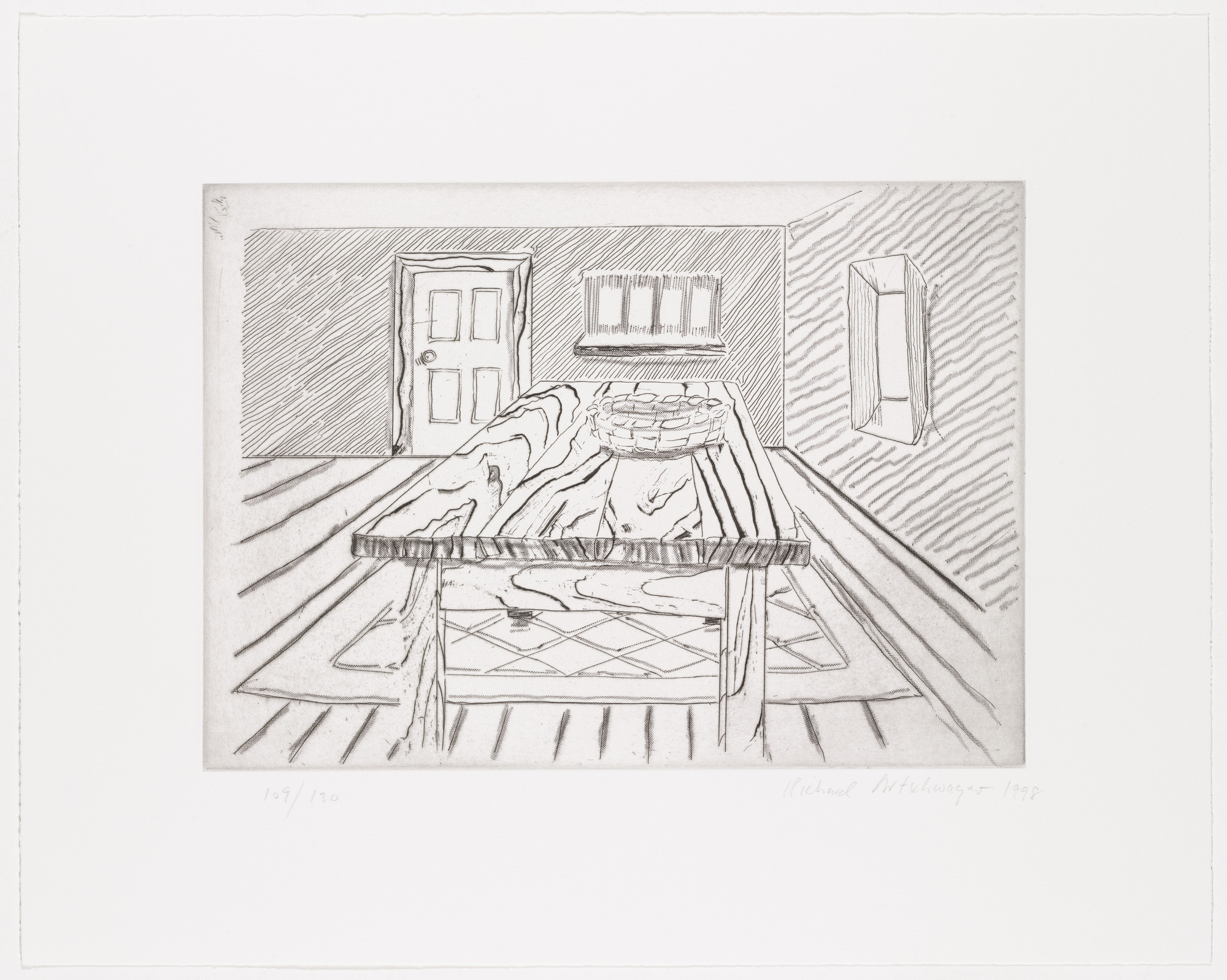 Richard Artschwager. Untitled from Notes on a Room. 1998