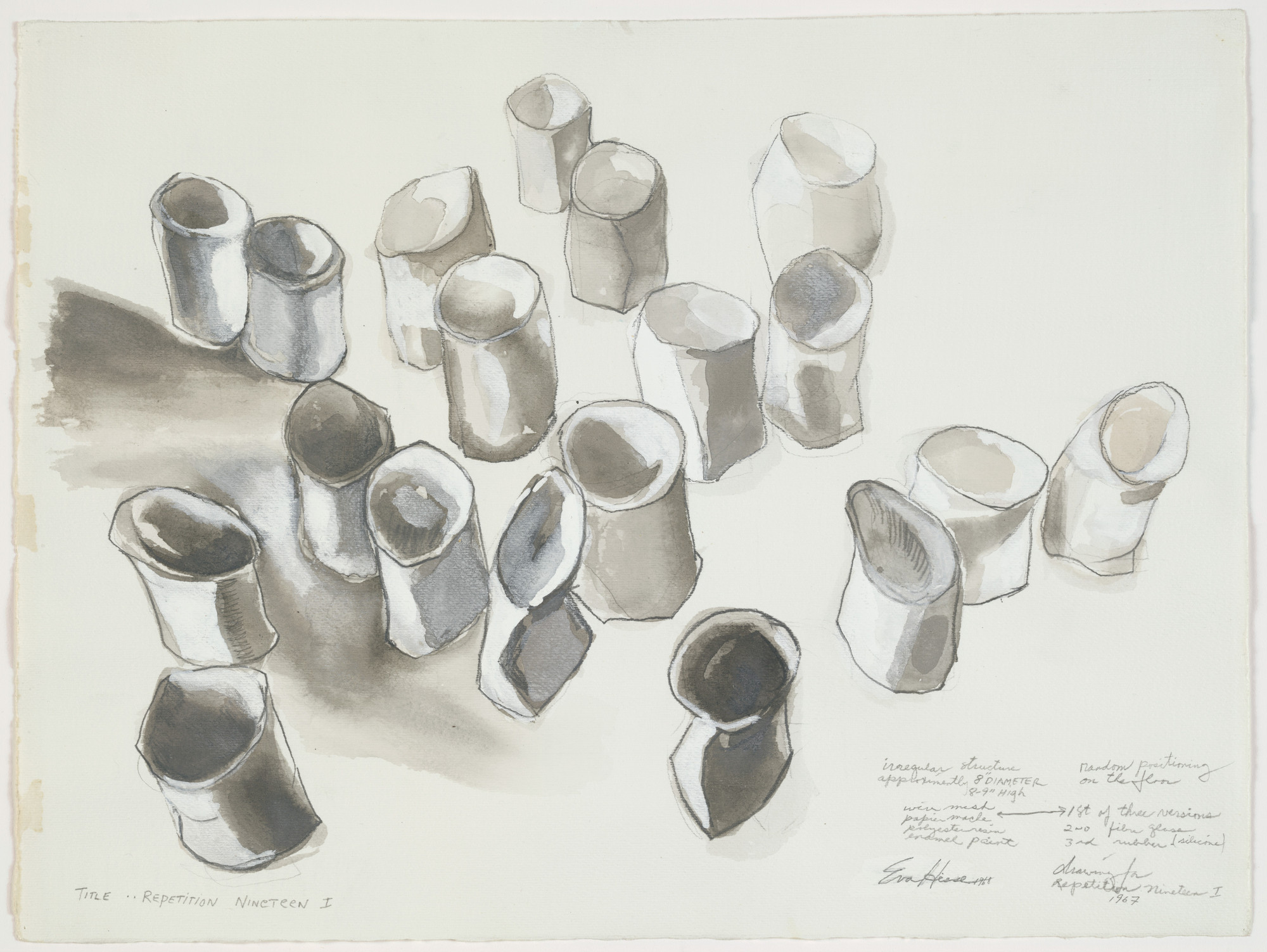 Eva Hesse. Repetition Nineteen I. 1967–68